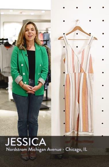 Stripe Surplice Jumpsuit, sales video thumbnail