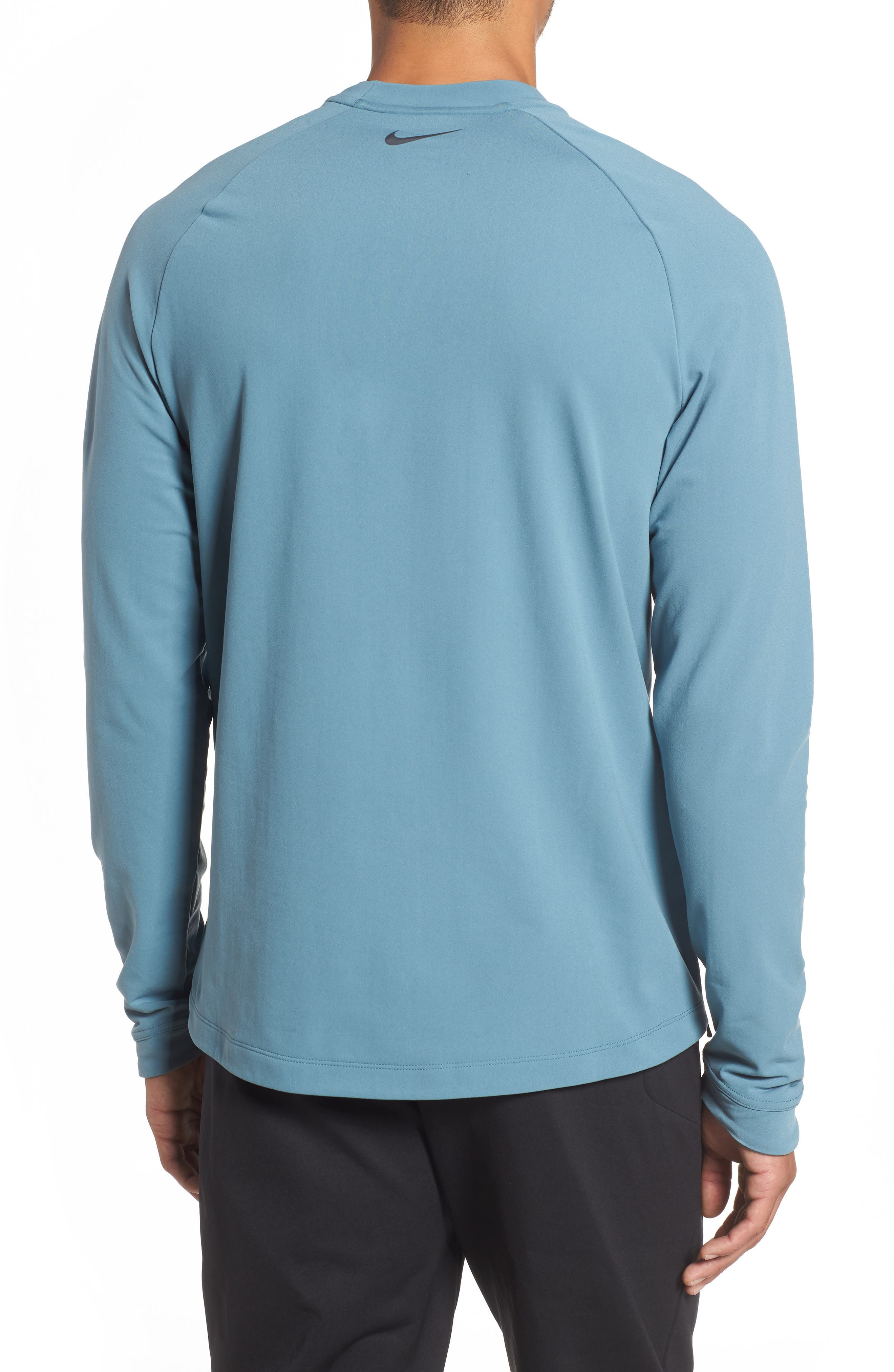 NIKE, Thermal Crewneck, Alternate thumbnail 2, color, CELESTIAL TEAL