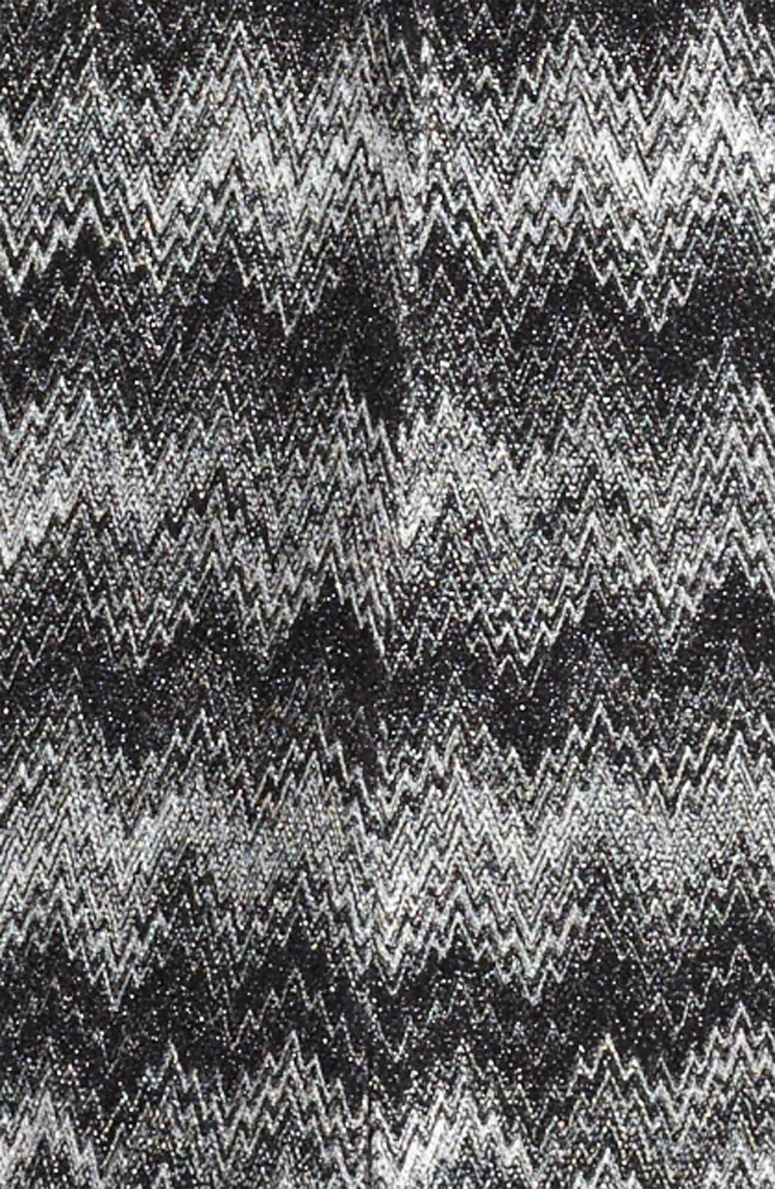 MISSONI, Long Snake Stitch Coat, Alternate thumbnail 2, color, 001
