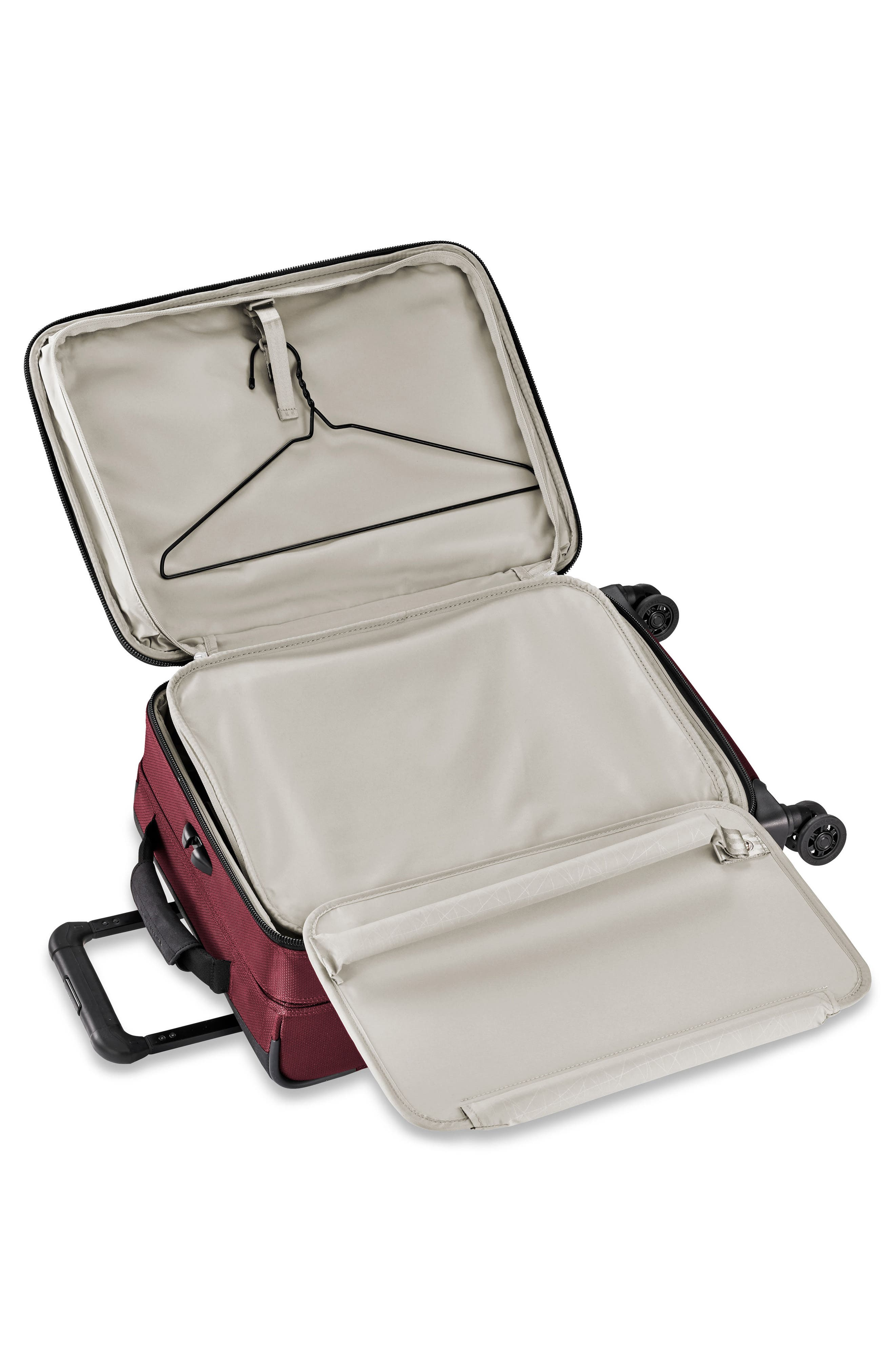 BRIGGS & RILEY, Transcend VX Tall Expandable 22-Inch Spinner Suitcase, Alternate thumbnail 2, color, MERLOT RED