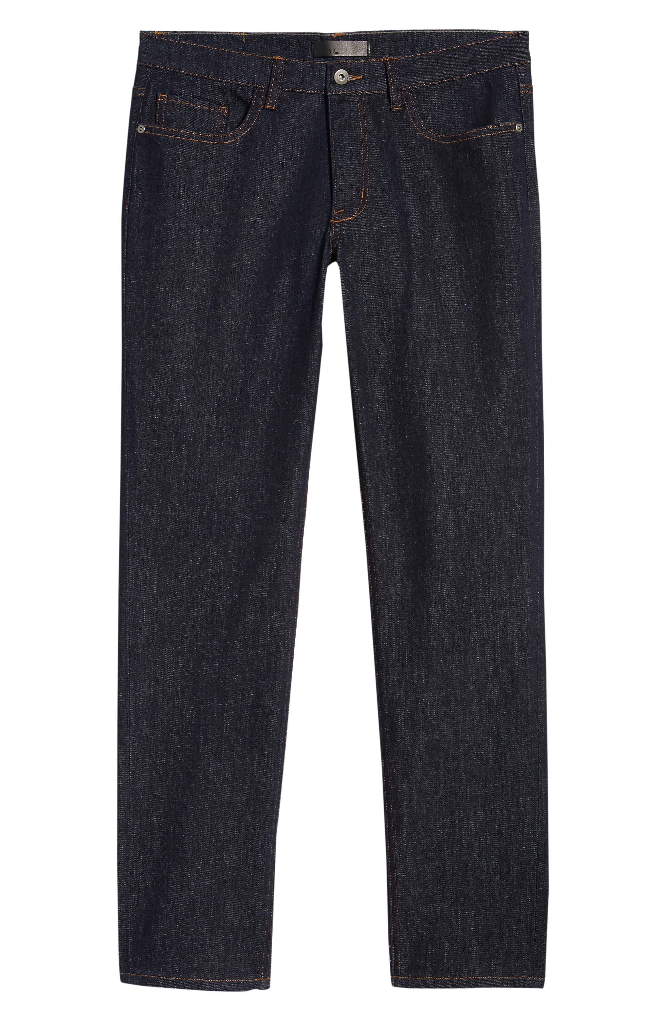 THE RAIL, Stretch Slim Leg Jeans, Alternate thumbnail 7, color, BLUE PERRY WASH