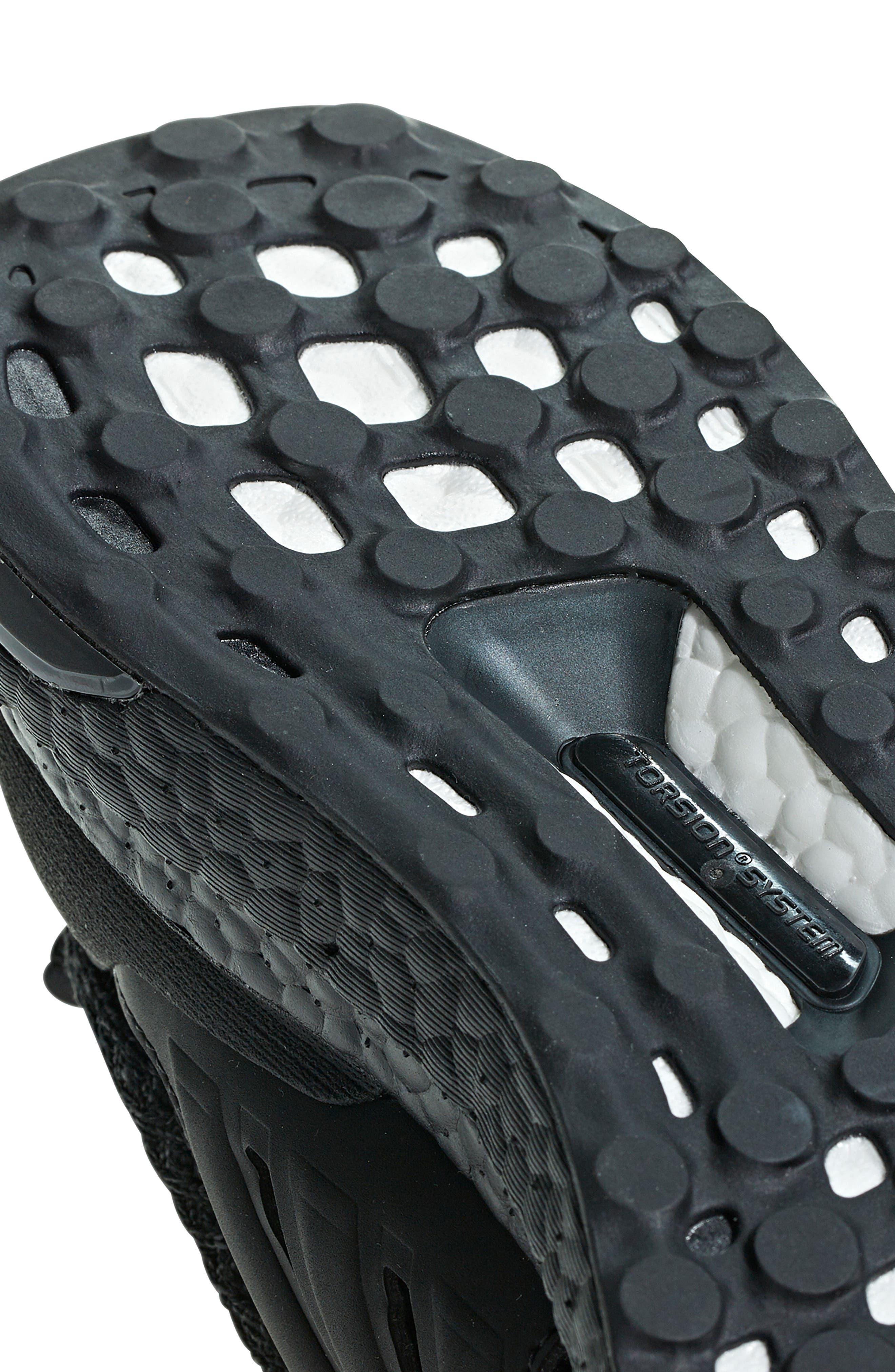 ADIDAS, 'UltraBoost' Running Shoe, Alternate thumbnail 7, color, CORE BLACK/ GOLD METALLIC