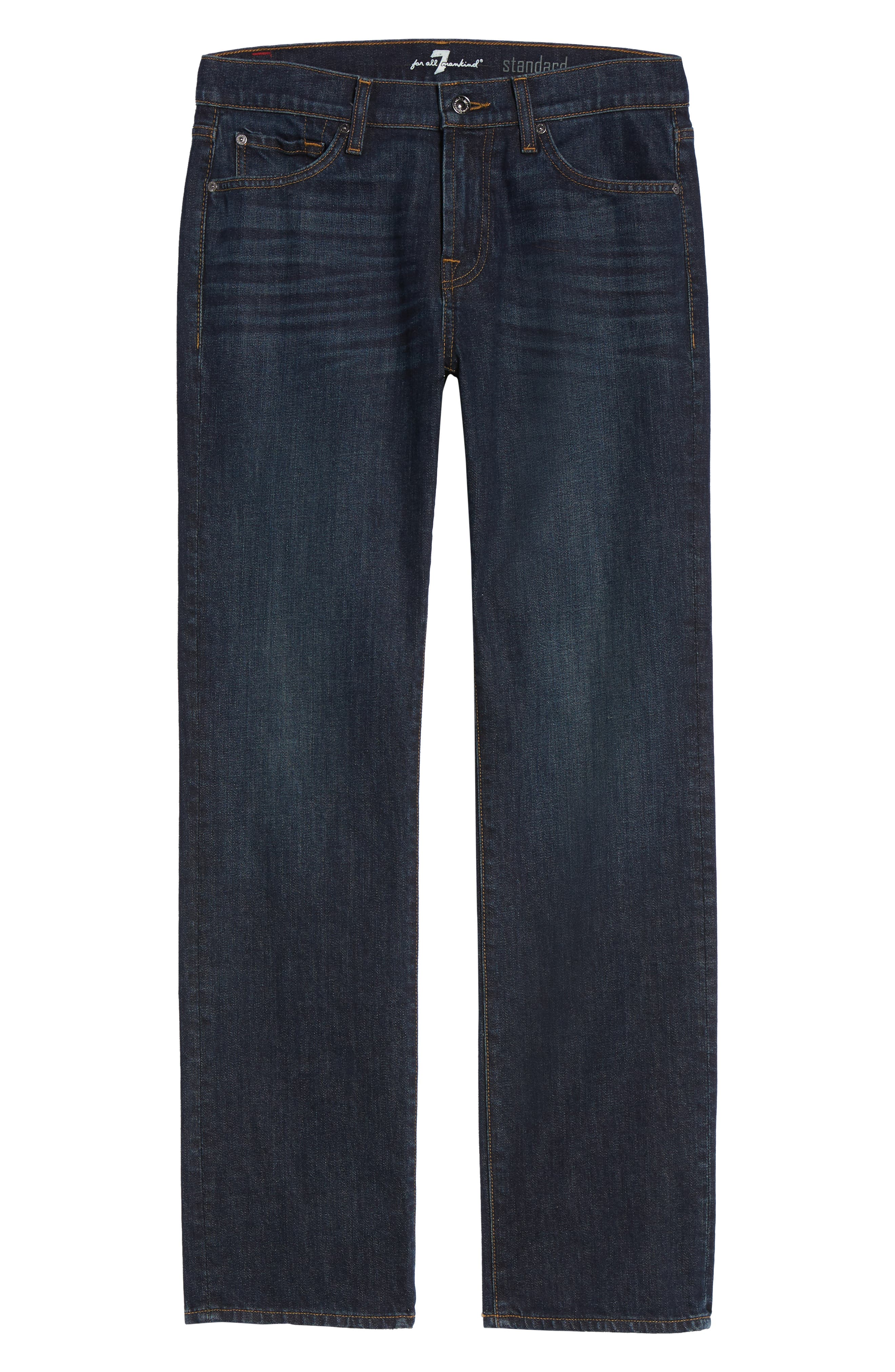 7 FOR ALL MANKIND<SUP>®</SUP>, Standard Straight Leg Jeans, Alternate thumbnail 7, color, ABERDEEN