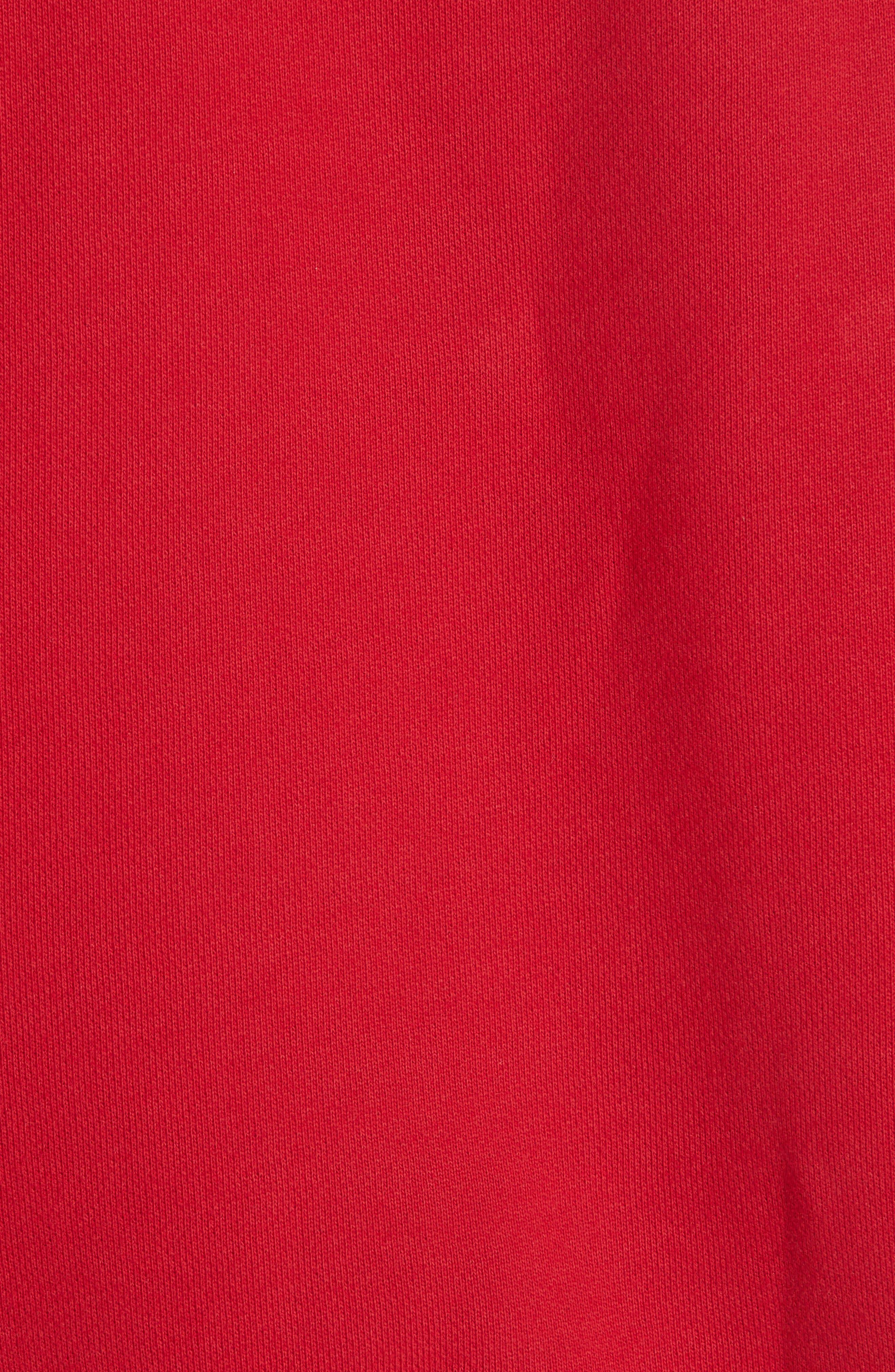 MOSCHINO, Circus Teddy Sweatshirt, Alternate thumbnail 6, color, RED