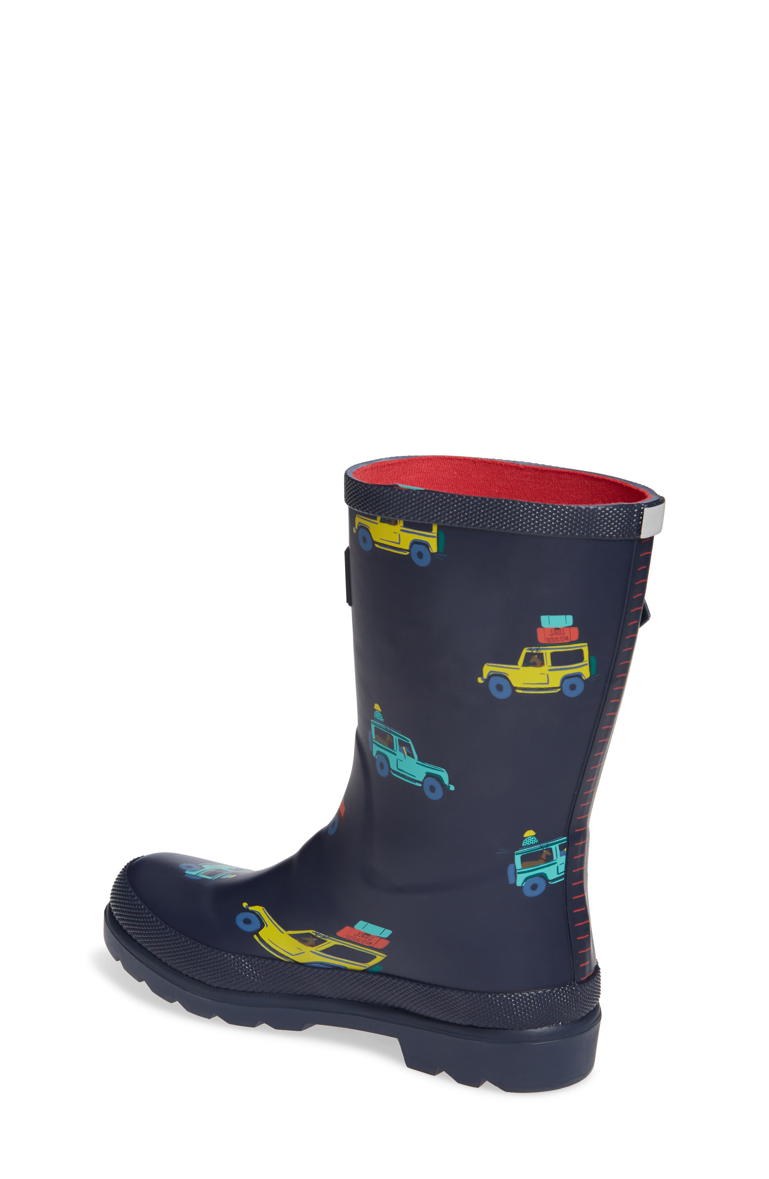 JOULES, Welly Print Waterproof Rain Boot, Alternate thumbnail 2, color, NAVY SCOUT AND ABOUT