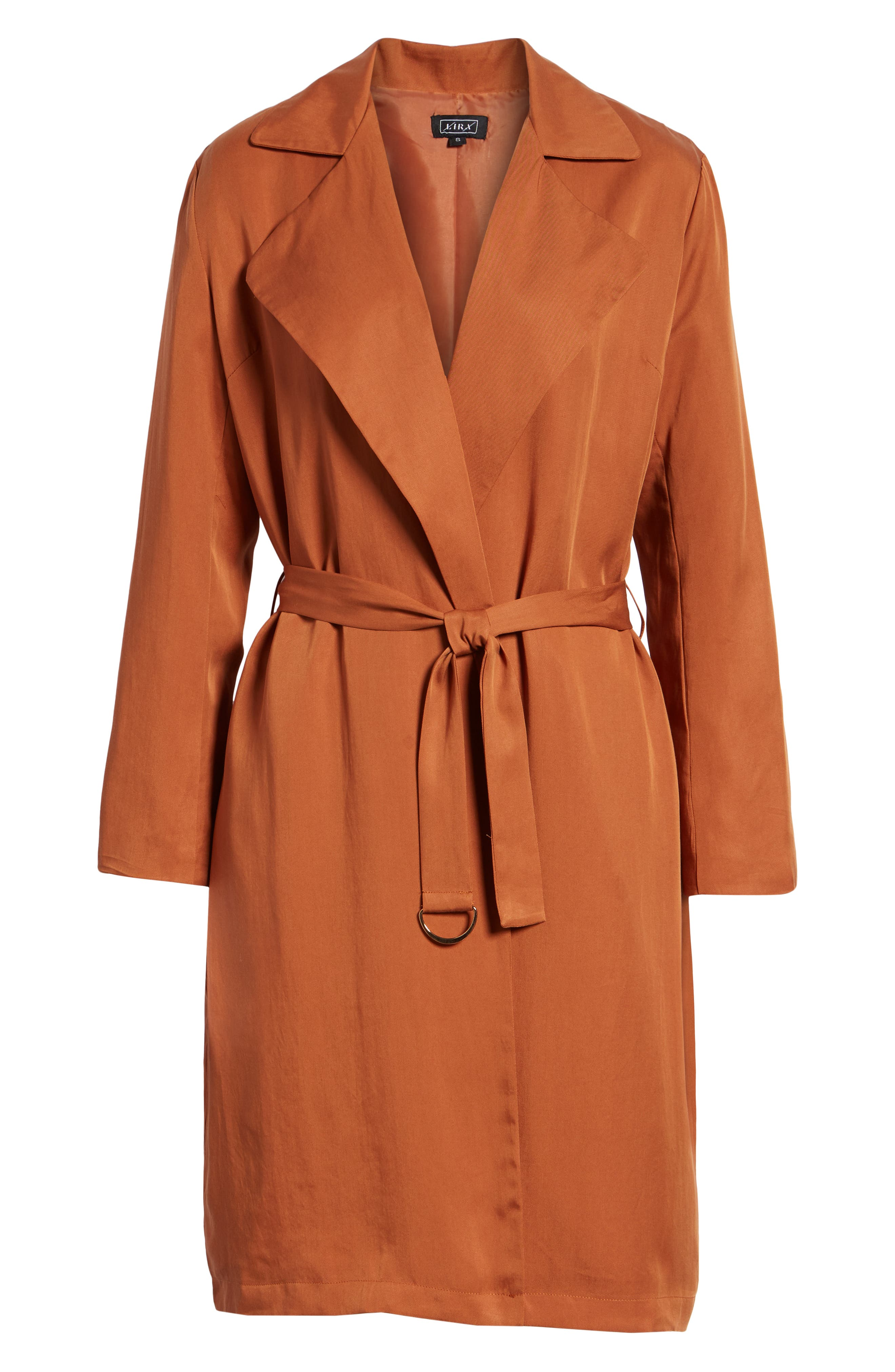 LIRA CLOTHING, Carmen Belted Trench Coat, Alternate thumbnail 6, color, BROWN