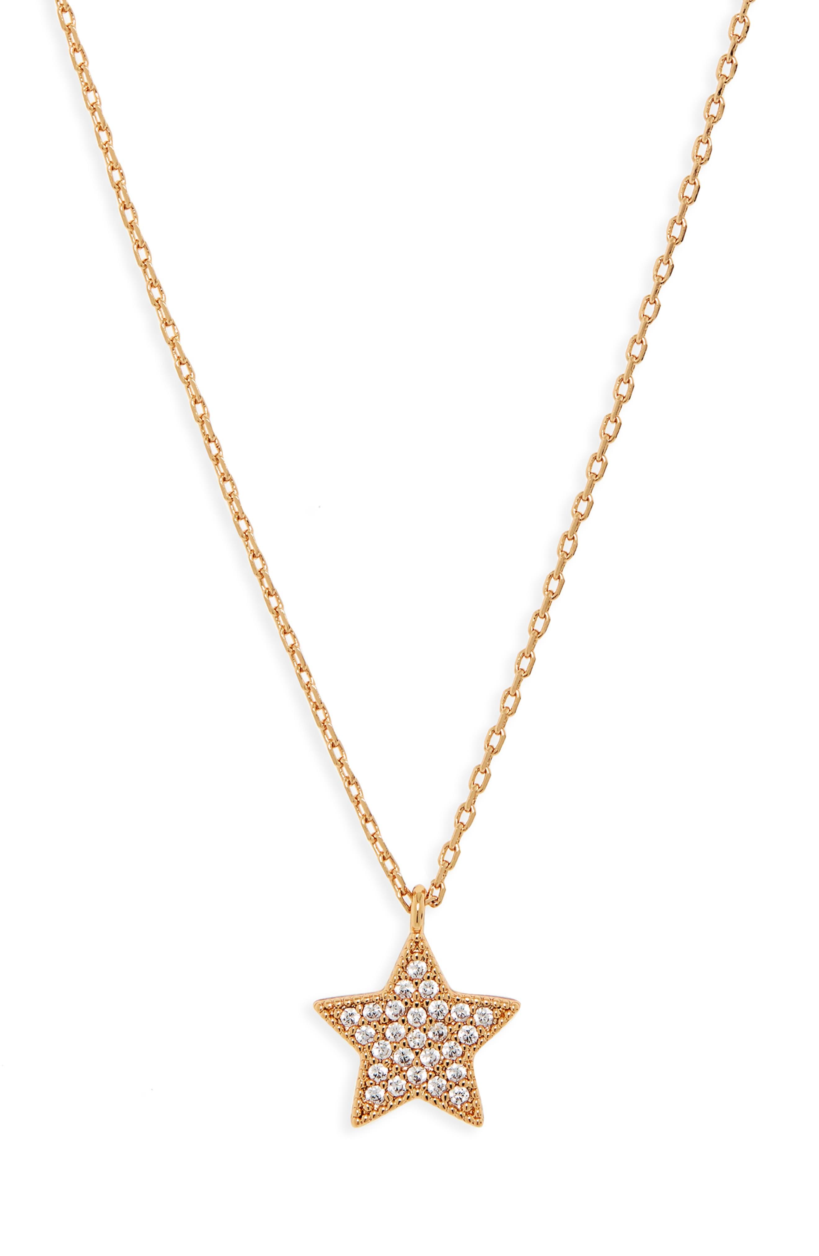 UNCOMMON JAMES BY KRISTIN CAVALLARI, Big Star Pendant Necklace, Main thumbnail 1, color, GOLD