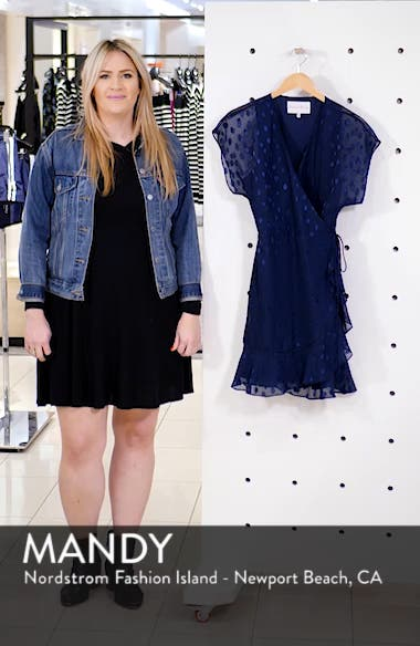 Wrap Chiffon Jacquard Minidress, sales video thumbnail