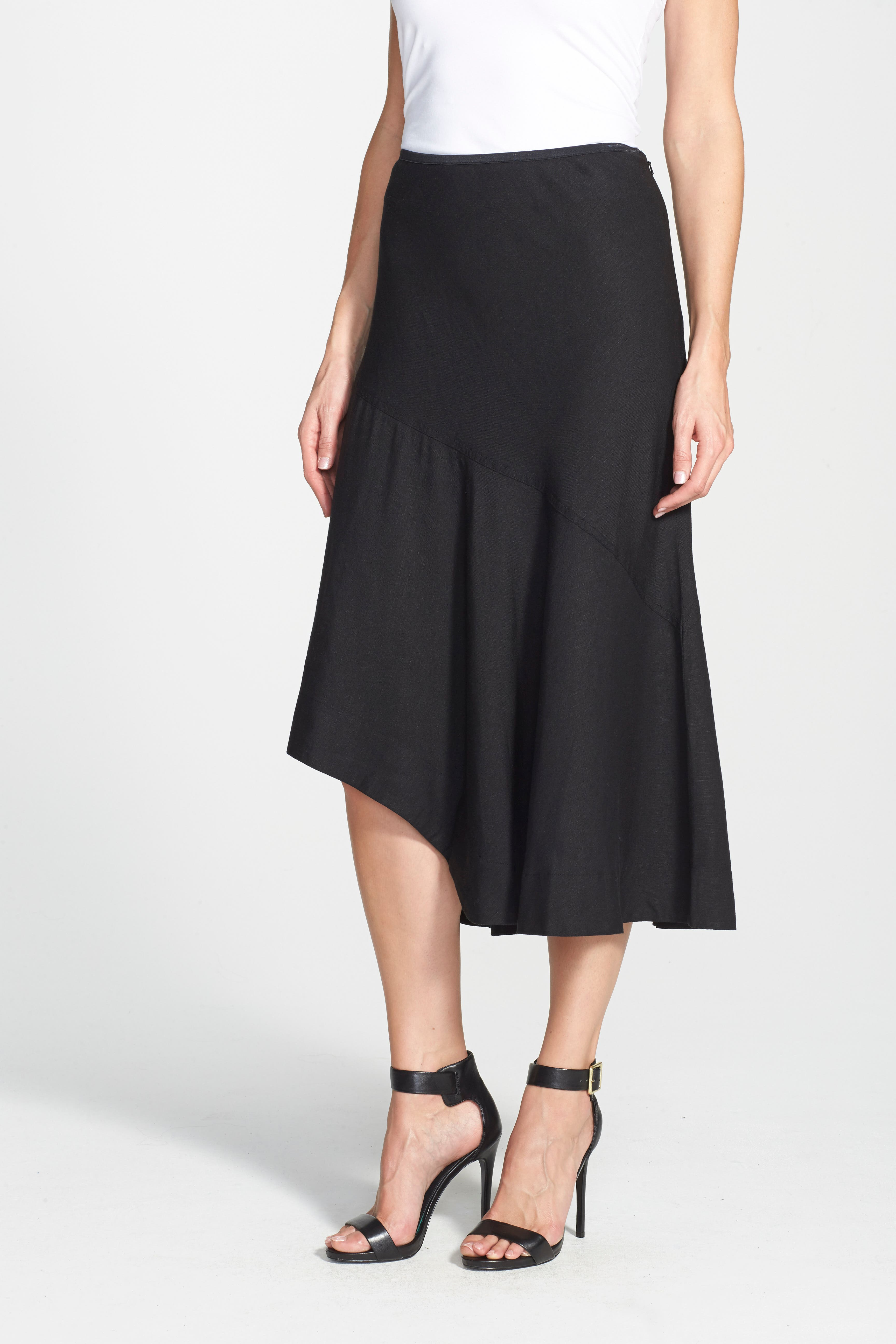 NIC+ZOE, 'The Long Engagement' Midi Skirt, Alternate thumbnail 3, color, 004