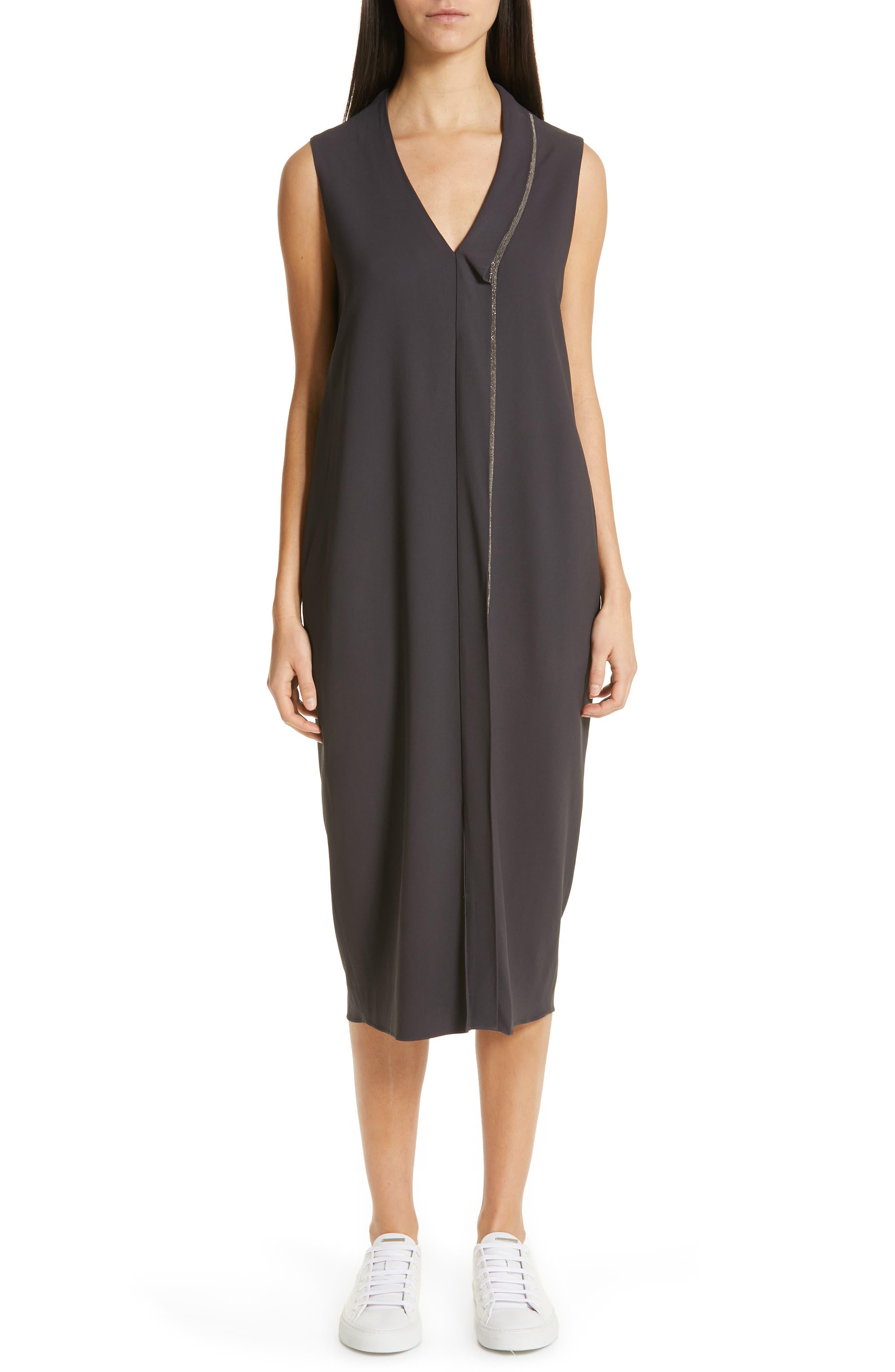 Fabiana Filippi Crepe Dress, 50 IT - Grey