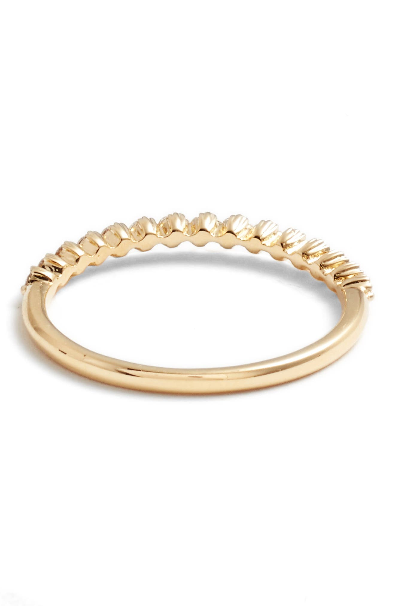 BONY LEVY, Stackable Diamond Ring, Alternate thumbnail 4, color, YELLOW GOLD