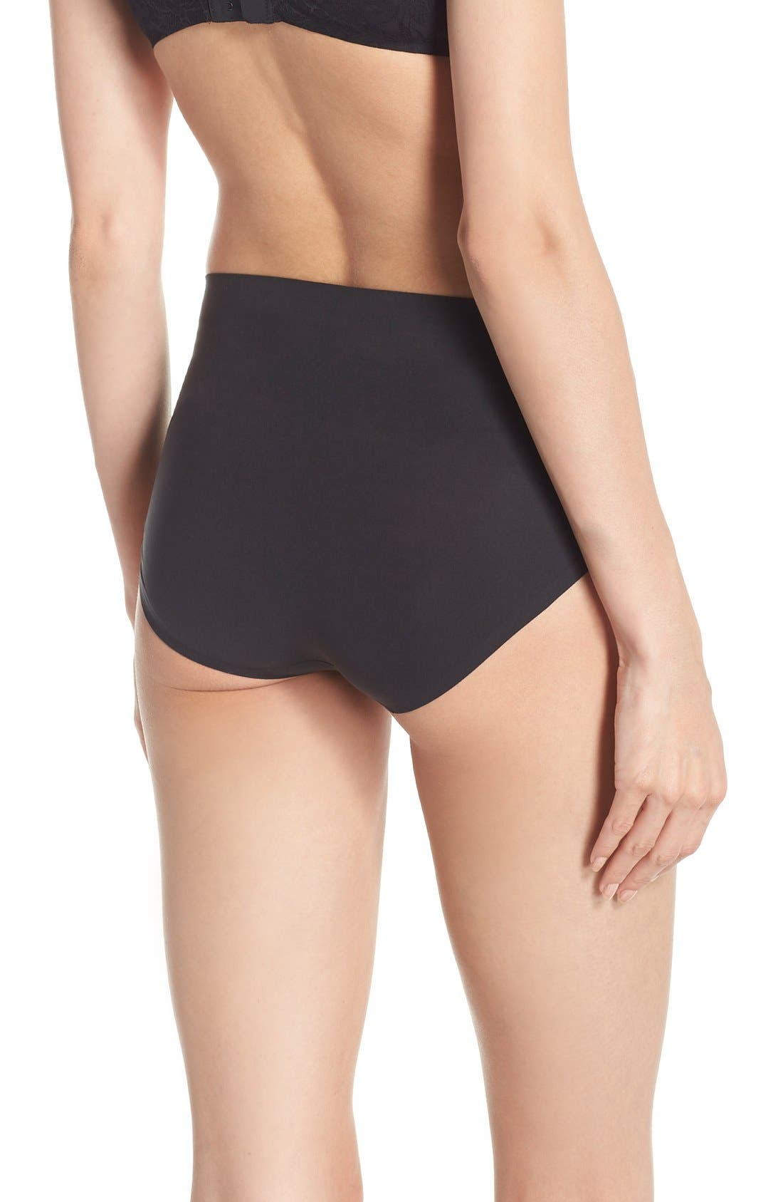 SPANX<SUP>®</SUP>, Undie-tectable Briefs, Alternate thumbnail 2, color, VERY BLACK