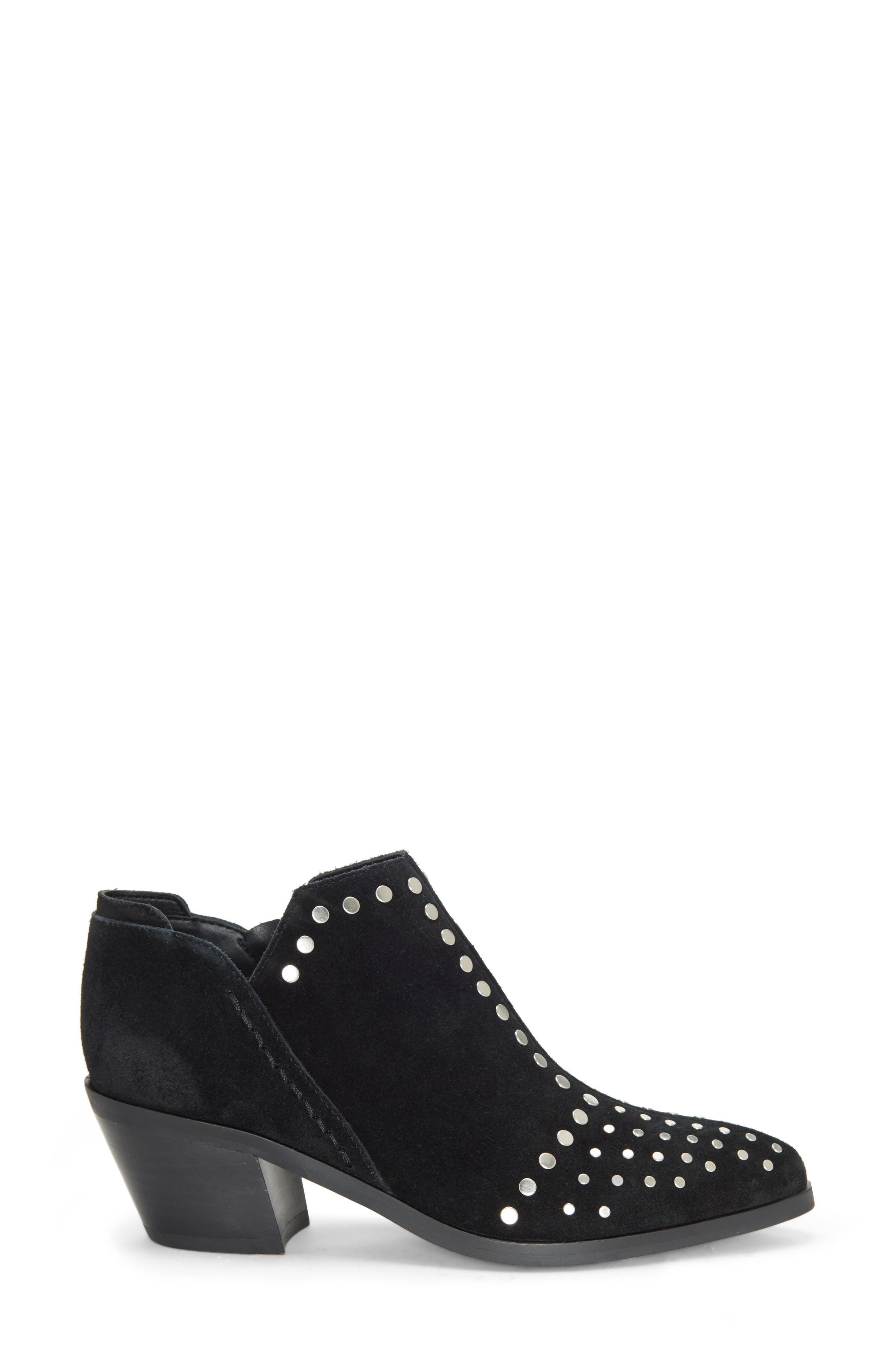1.STATE, Loka Studded Bootie, Alternate thumbnail 3, color, BLACK SUEDE