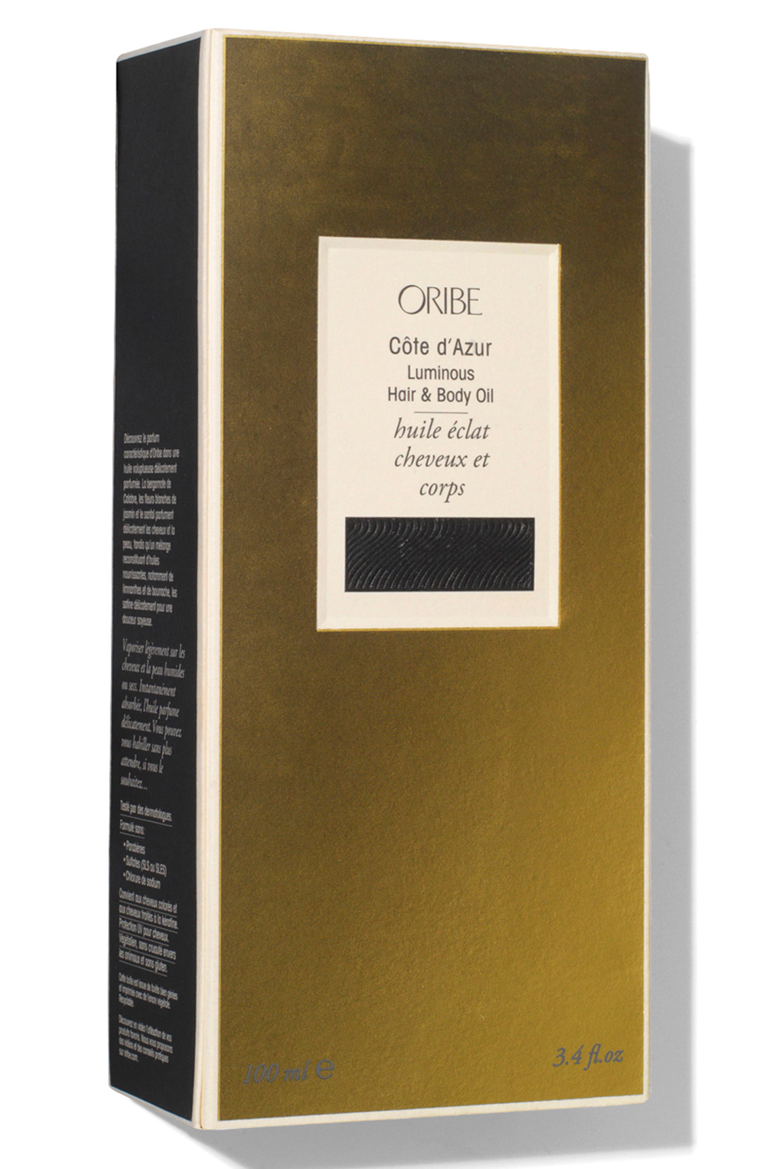 ORIBE, SPACE.NK.apothecary Oribe Côte d'Azur Luminous Hair & Body Oil, Alternate thumbnail 3, color, 000