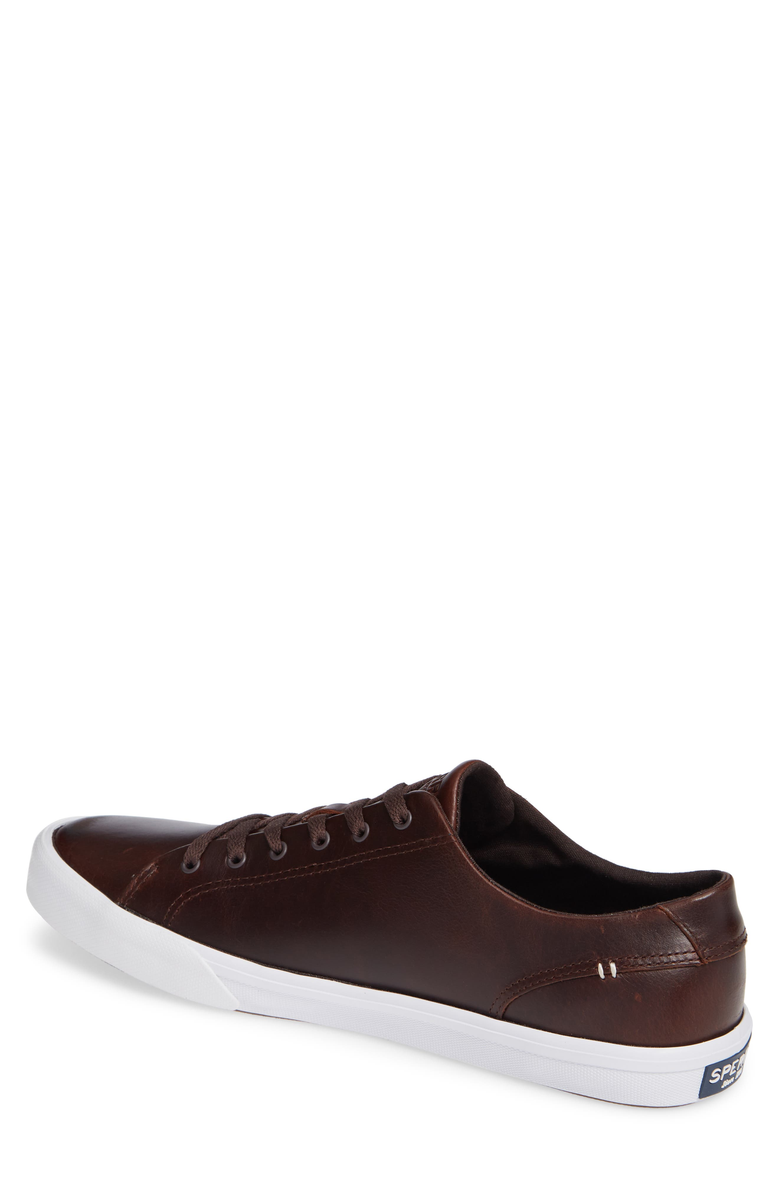 SPERRY, Striper II Sneaker, Alternate thumbnail 2, color, AMARETTO LEATHER