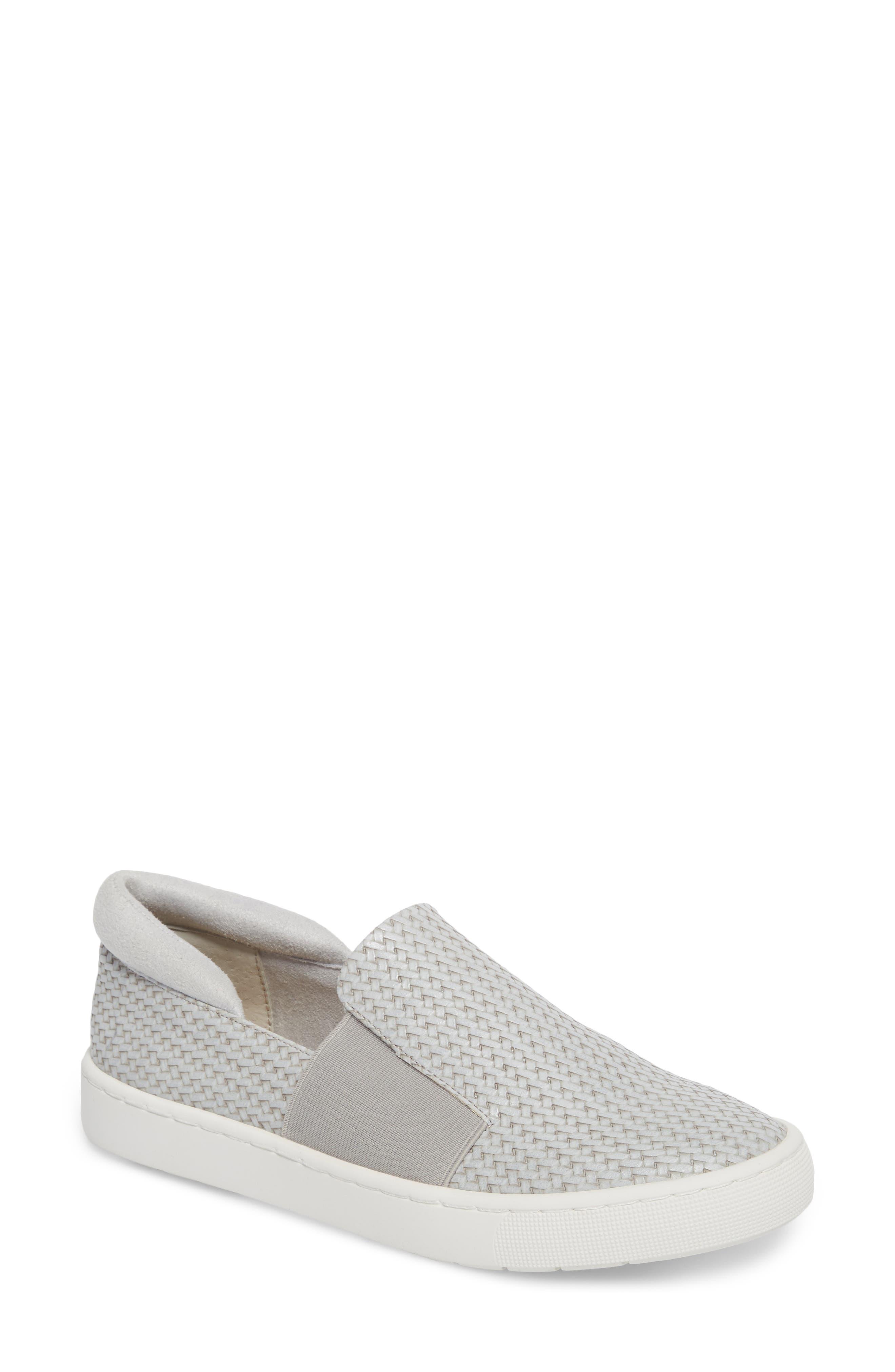 BELLA VITA Ramp II Slip-On Sneaker, Main, color, LIGHT GREY FABRIC