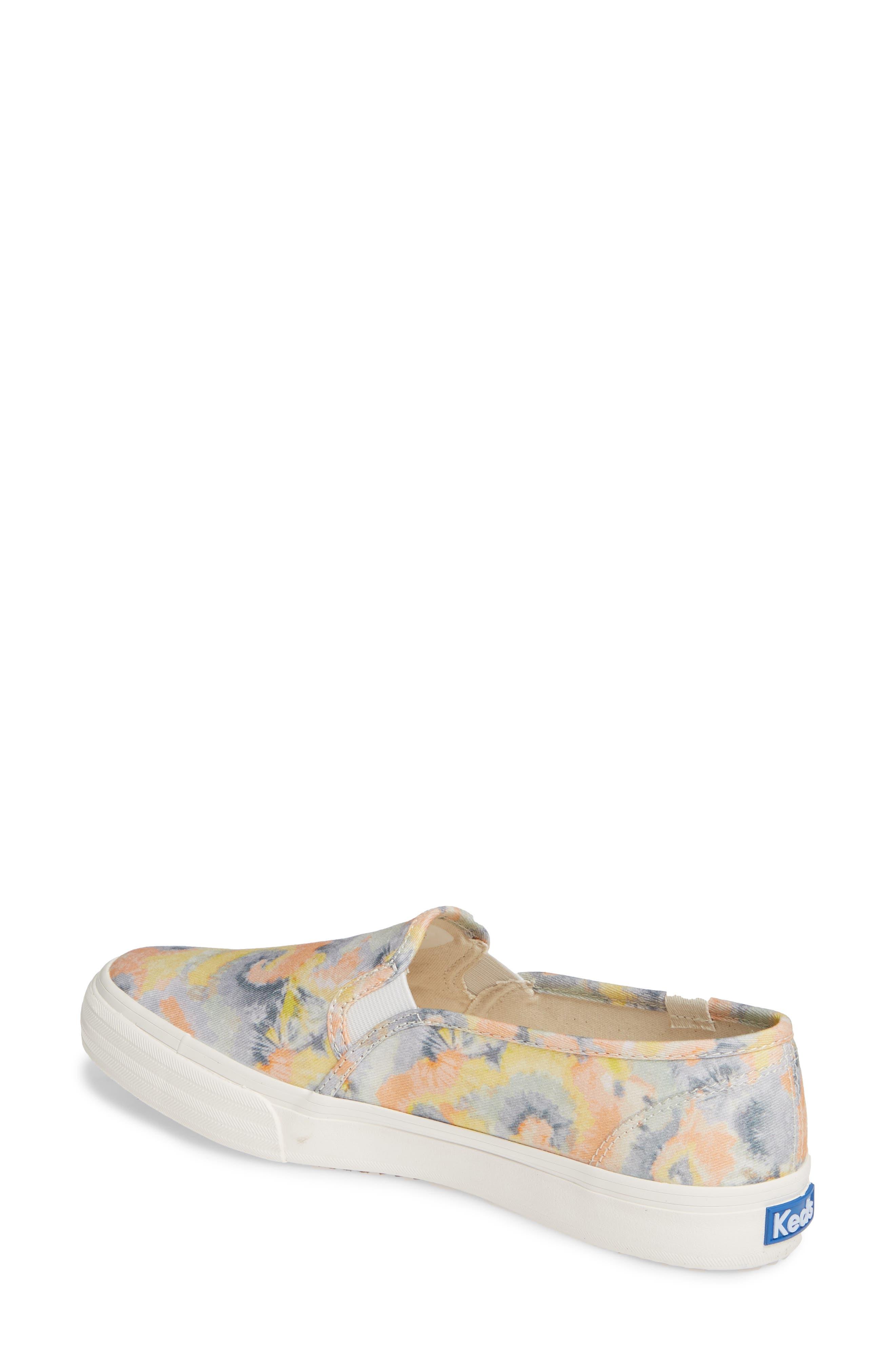 KEDS<SUP>®</SUP>, Double Decker Tie Dye Sneaker, Alternate thumbnail 2, color, PINK MULTI
