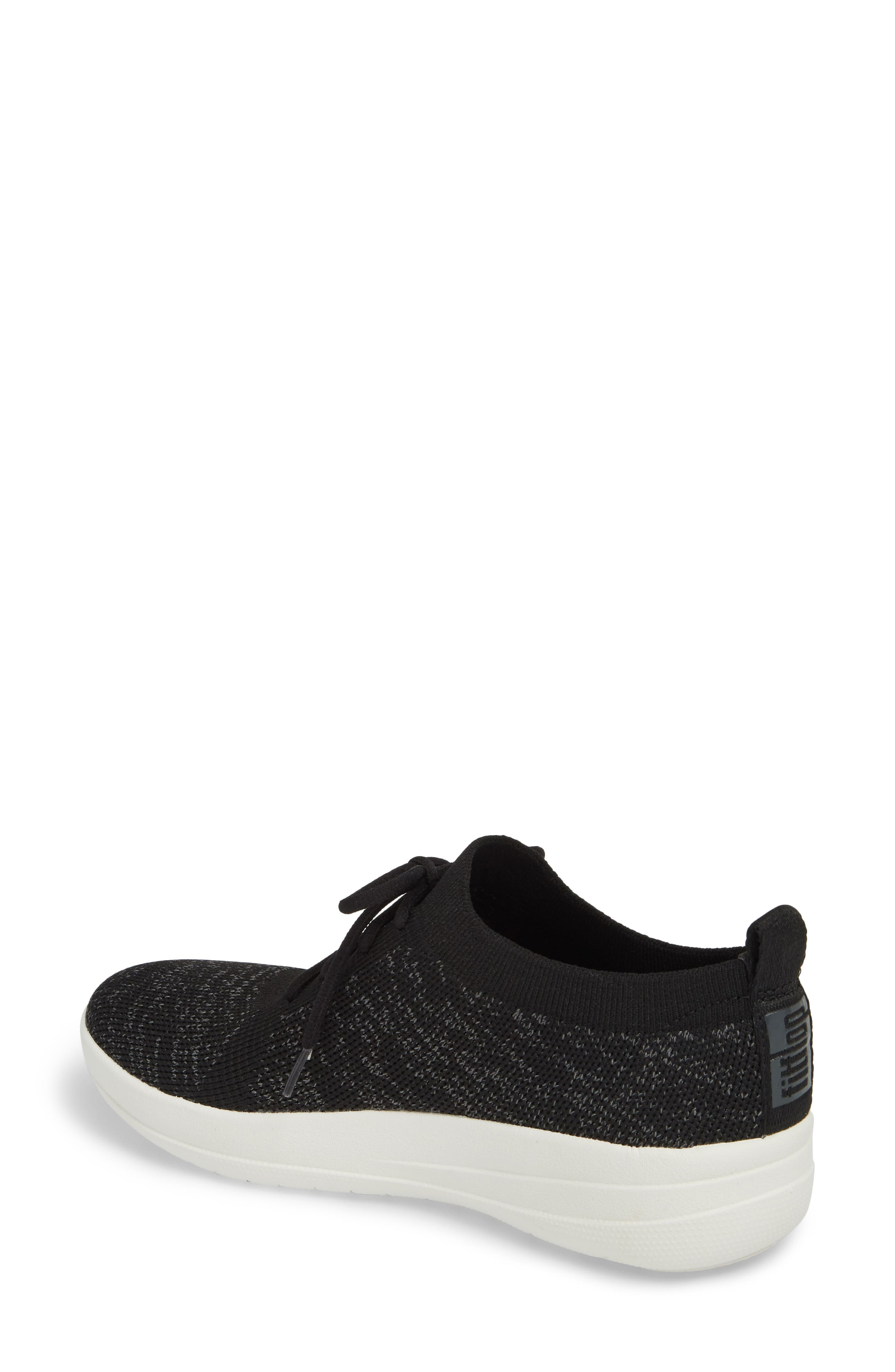 FITFLOP, F-Sporty Uberknit<sup>™</sup> Sneaker, Alternate thumbnail 2, color, BLACK