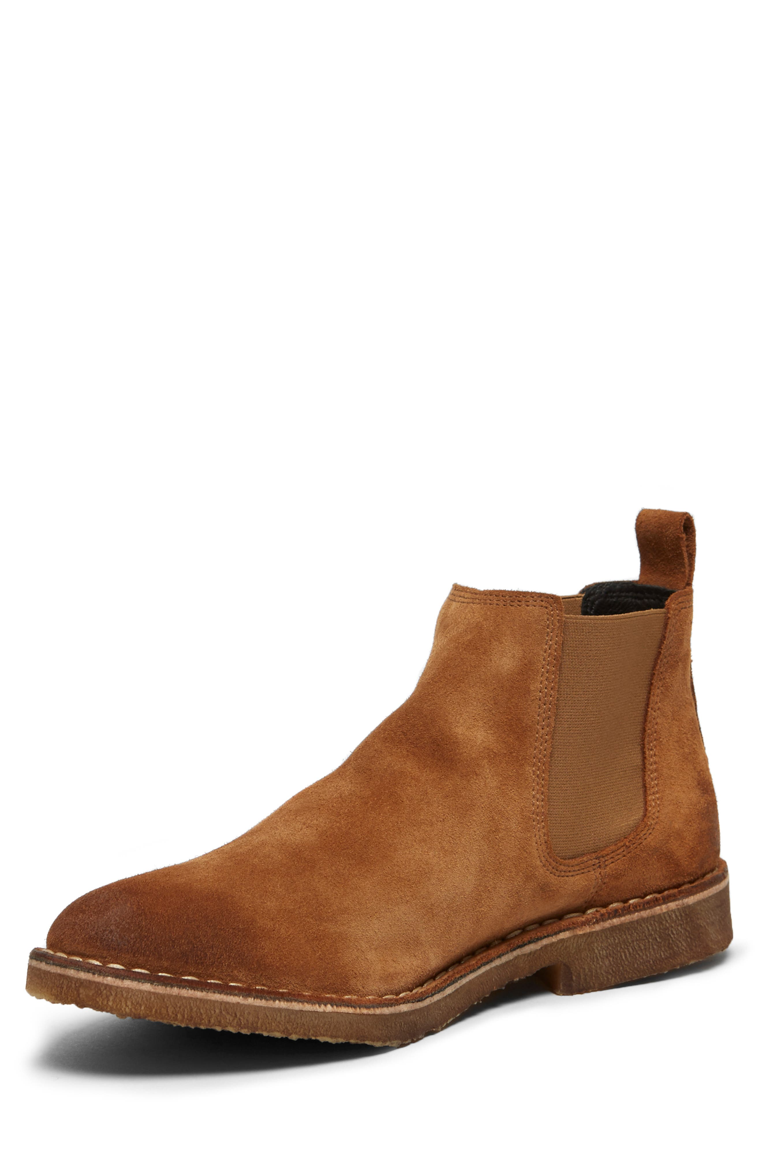 KENNETH COLE NEW YORK, Hewitt Chelsea Boot, Alternate thumbnail 5, color, RUST SUEDE