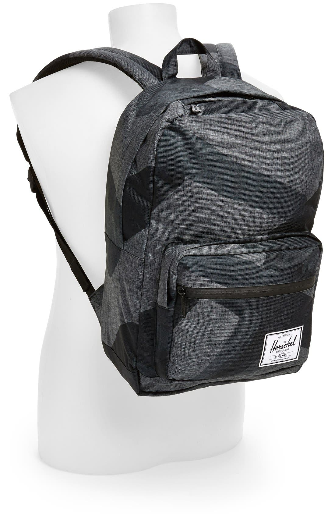HERSCHEL SUPPLY CO., 'Pop Quiz - Black Portal' Backpack, Alternate thumbnail 3, color, 002