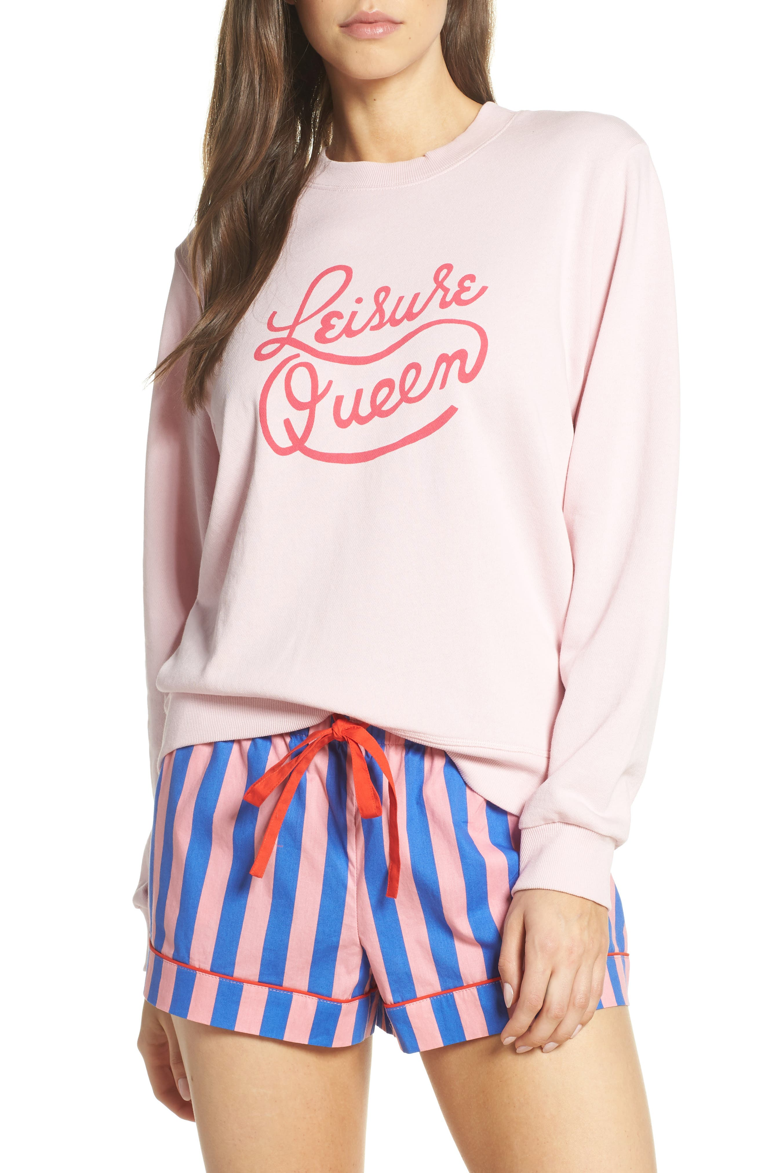 BAN.DO Leisure Queen Sweatshirt, Main, color, PINK