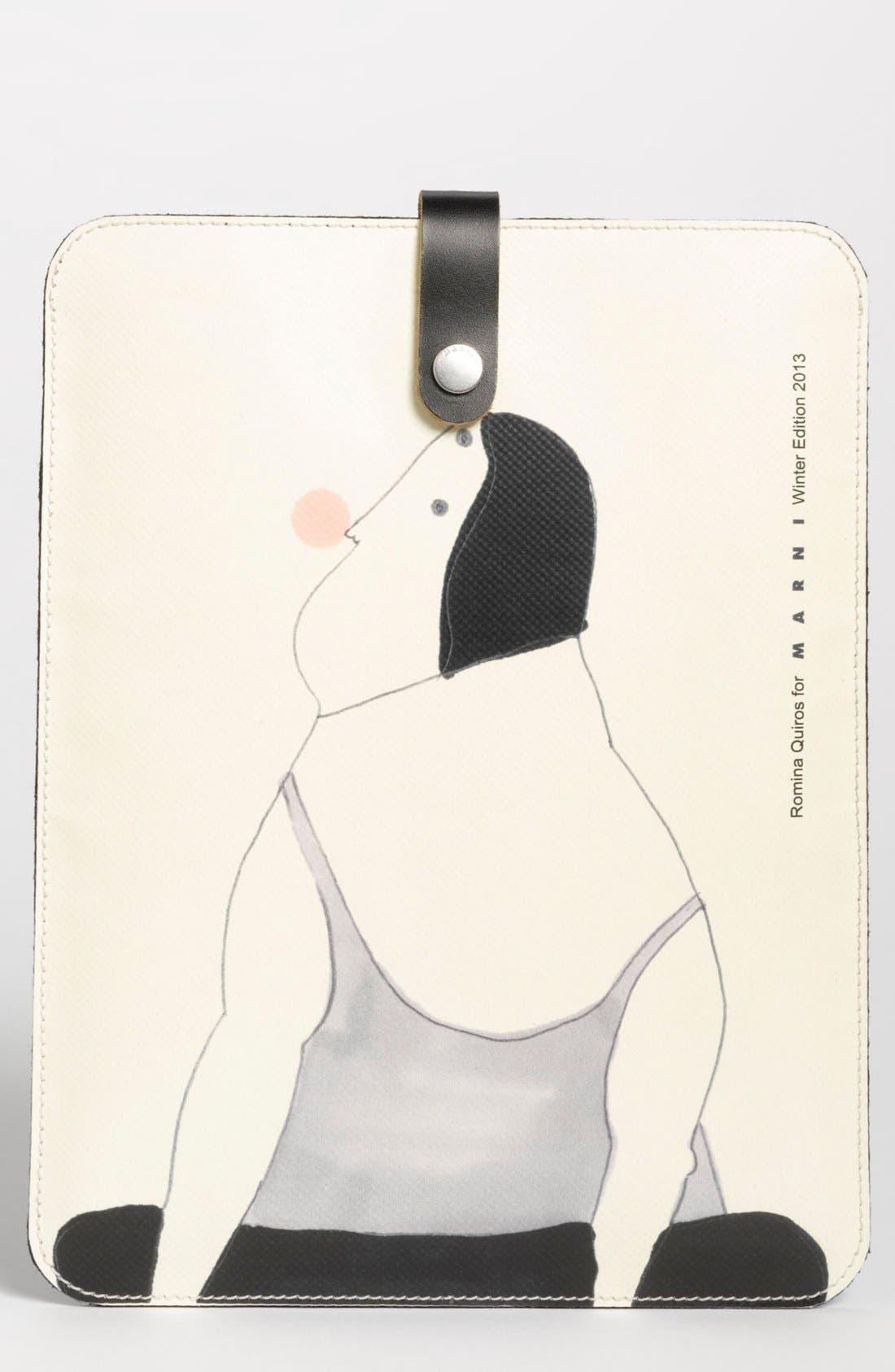 MARNI, 'Romina Quirós Bubble Gum' iPad Sleeve, Main thumbnail 1, color, 110