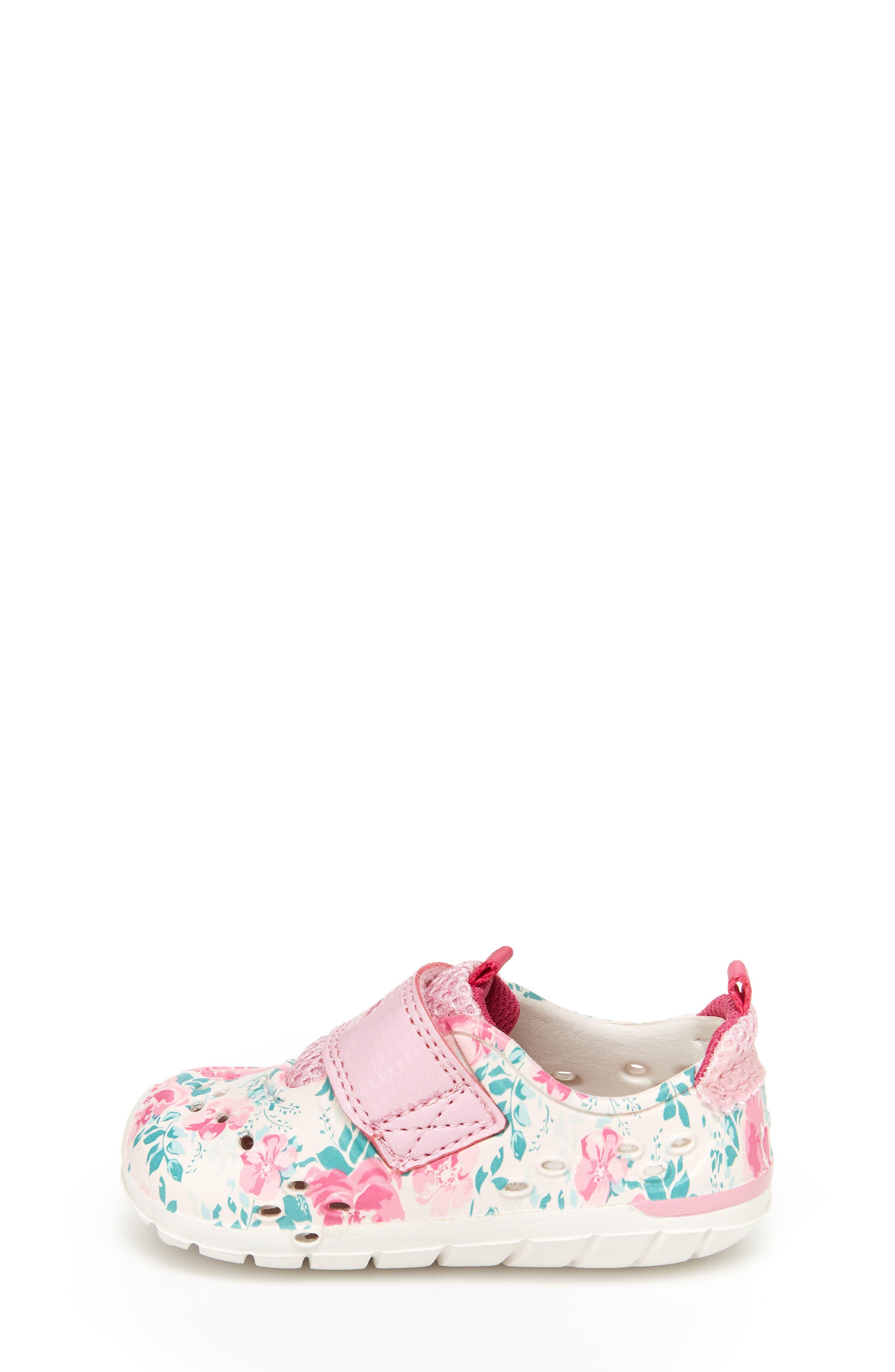 STRIDE RITE, Made2Play<sup>®</sup> Phibian Sneaker, Alternate thumbnail 7, color, WHITE/ PINK EVA