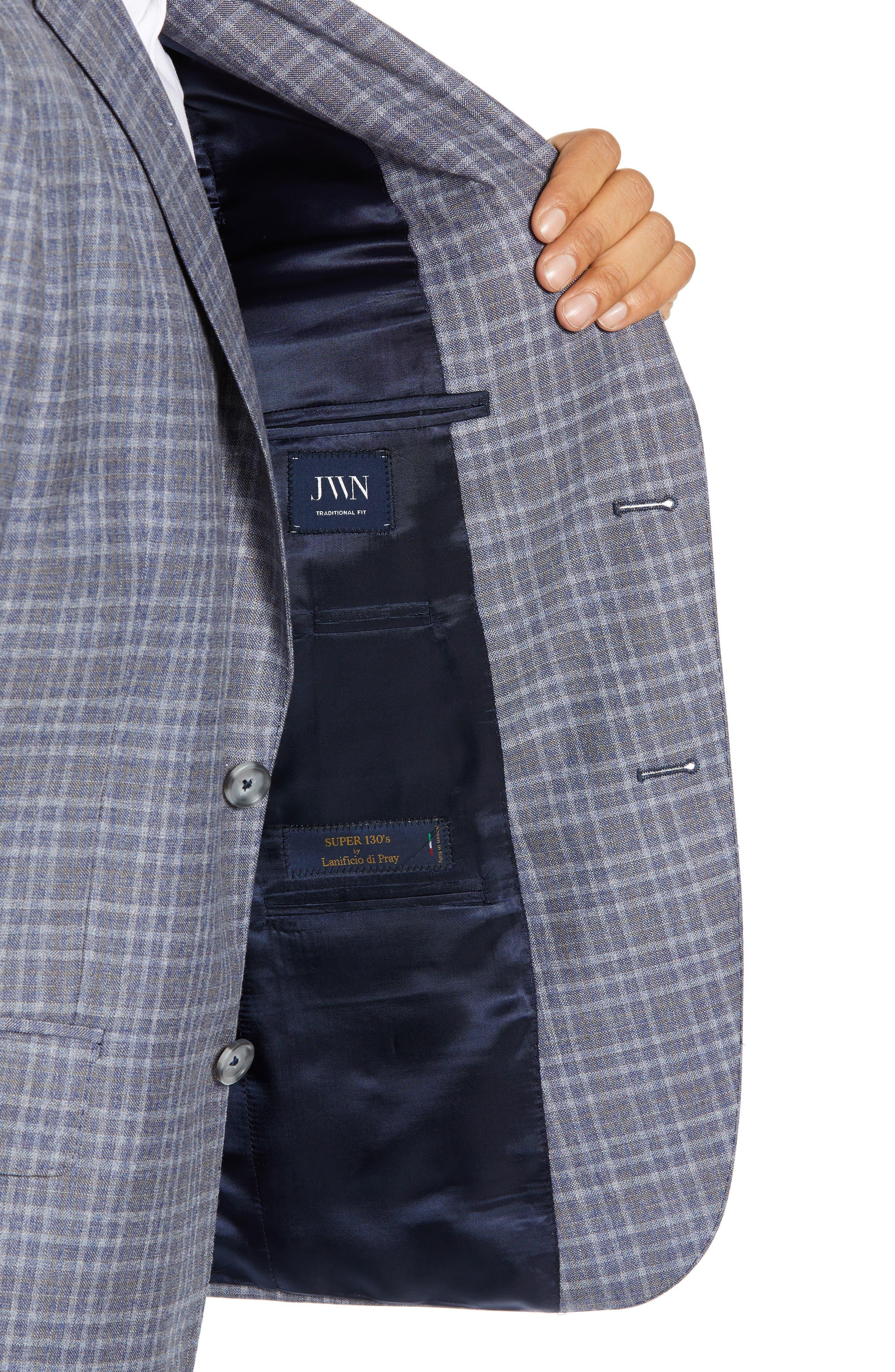 JOHN W. NORDSTROM<SUP>®</SUP>, Classic Fit Plaid Wool Sport Coat, Alternate thumbnail 4, color, 420