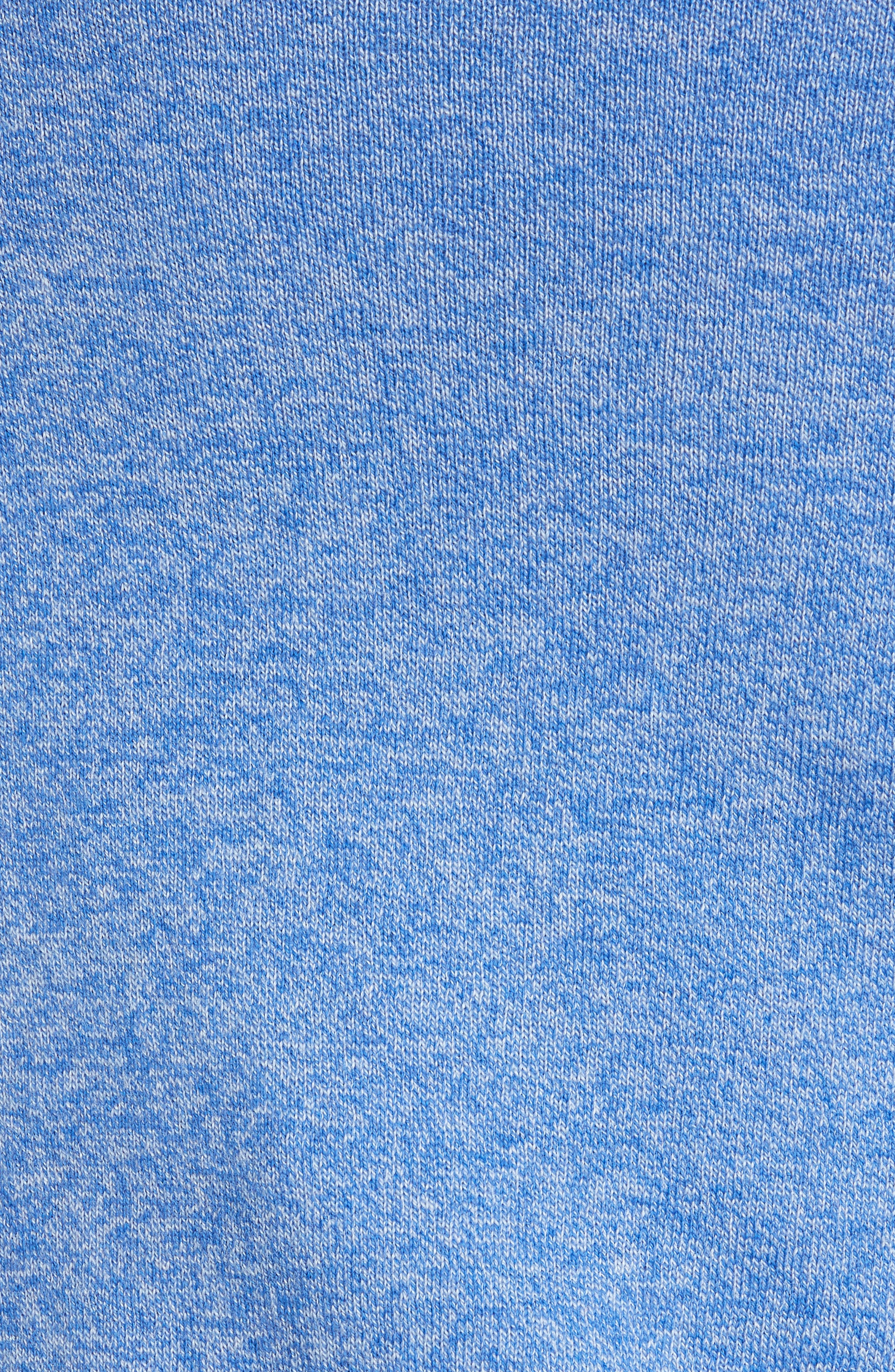 NORDSTROM MEN'S SHOP, Cotton & Cashmere V-Neck Sweater, Alternate thumbnail 5, color, BLUE CAMP MARL