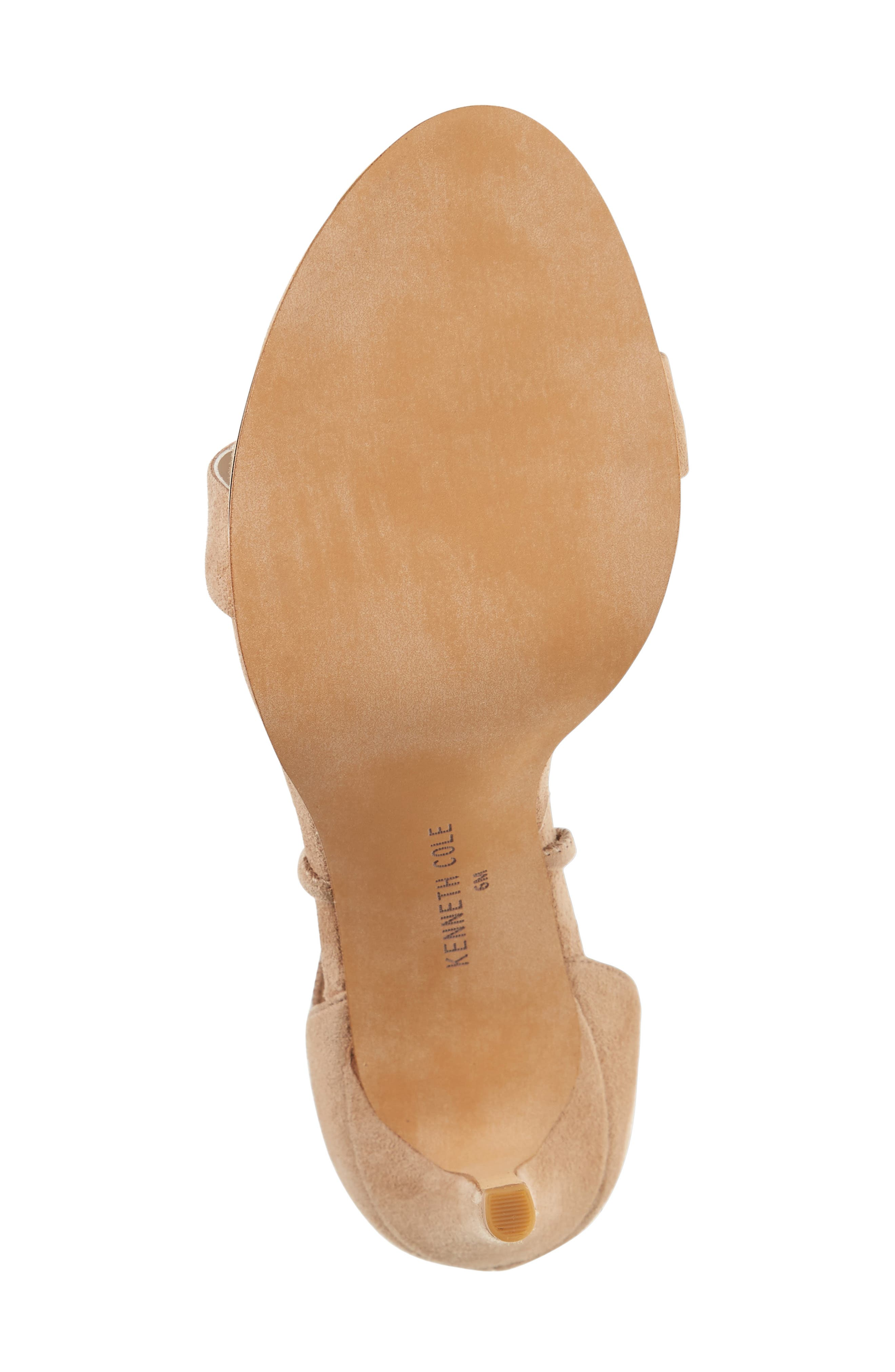 KENNETH COLE NEW YORK, Berry Wraparound Sandal, Alternate thumbnail 4, color, ALMOND SUEDE