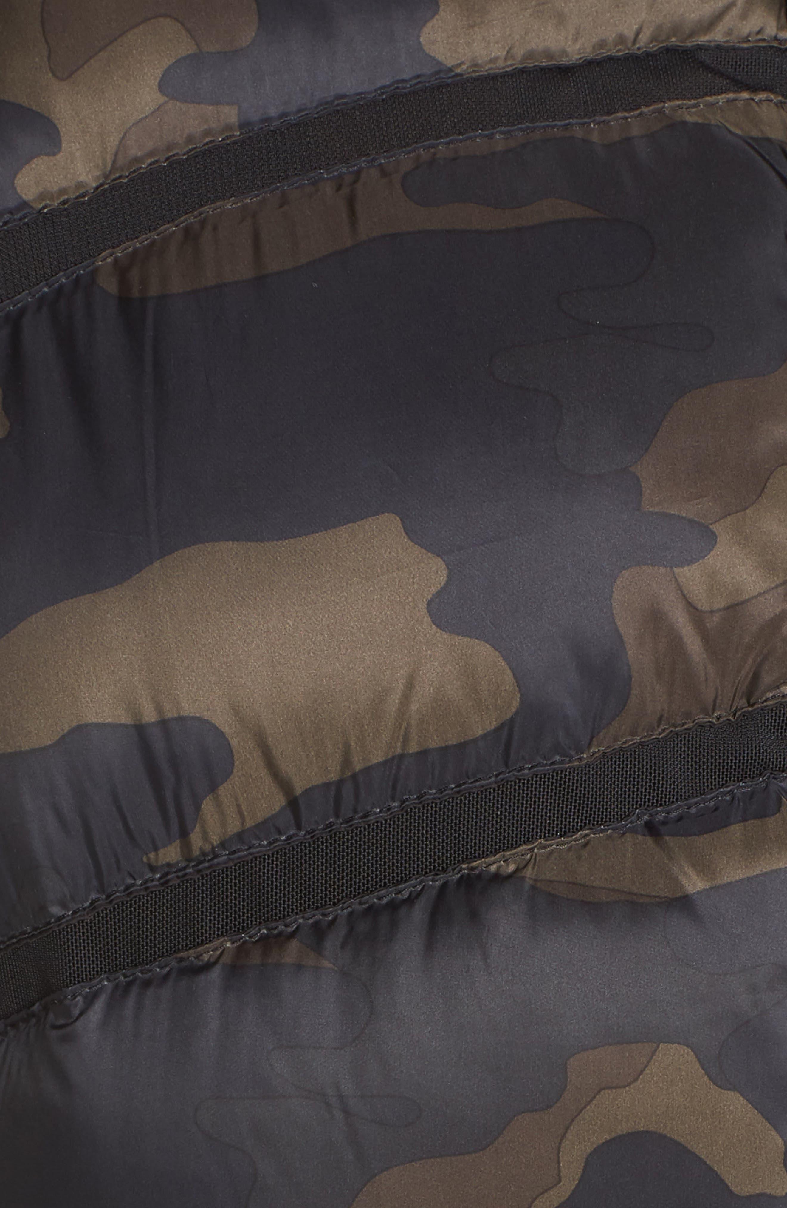 BLANC NOIR, Mesh Inset Down Vest, Alternate thumbnail 2, color, CAMO/ BLACK