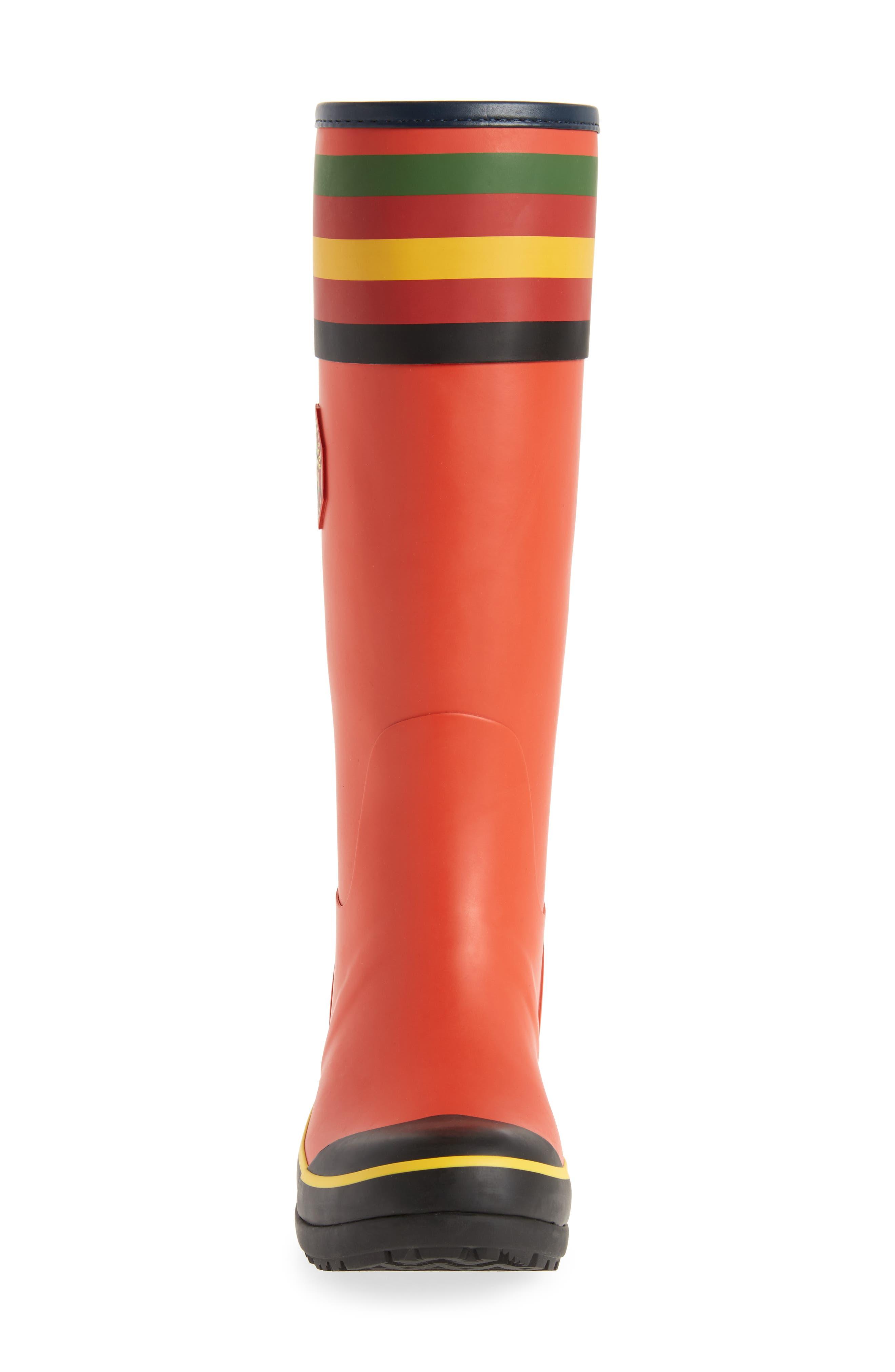 PENDLETON, Rainier National Park Tall Rain Boot, Alternate thumbnail 4, color, RED
