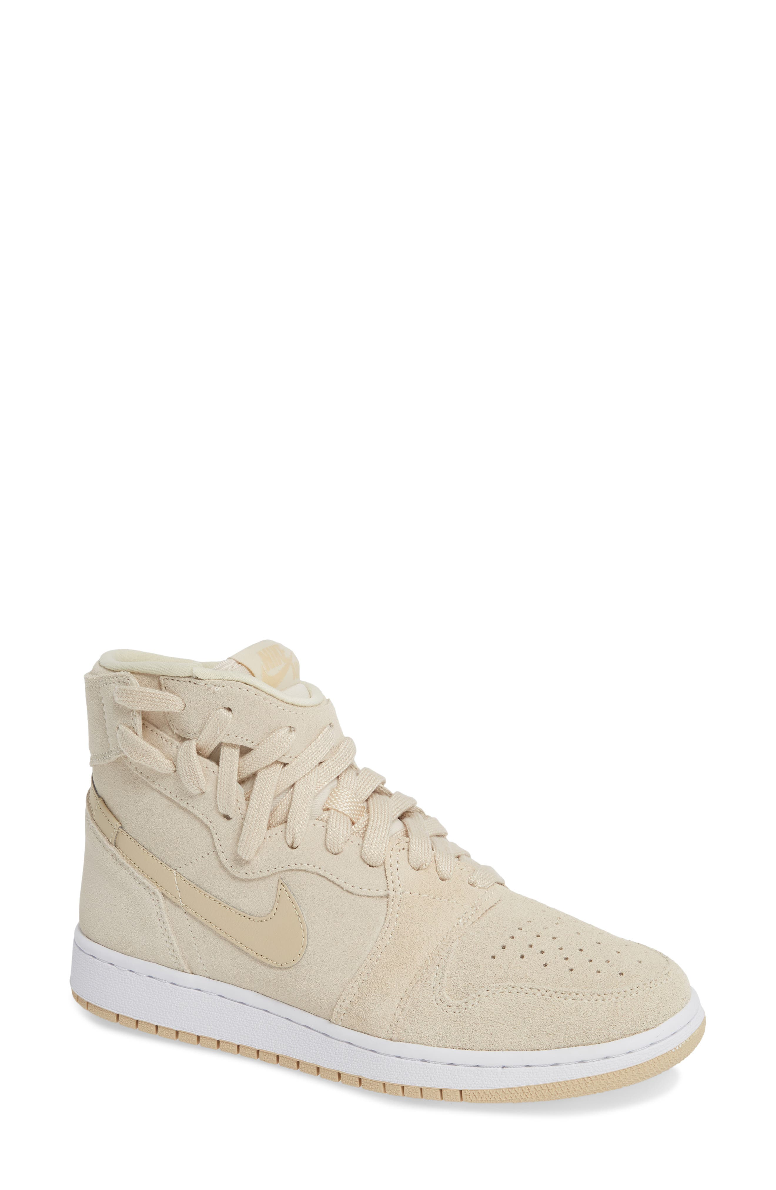 NIKE Air Jordan 1 Rebel XX High Top Sneaker, Main, color, LIGHT CREAM/ DESERT ORE/ WHITE