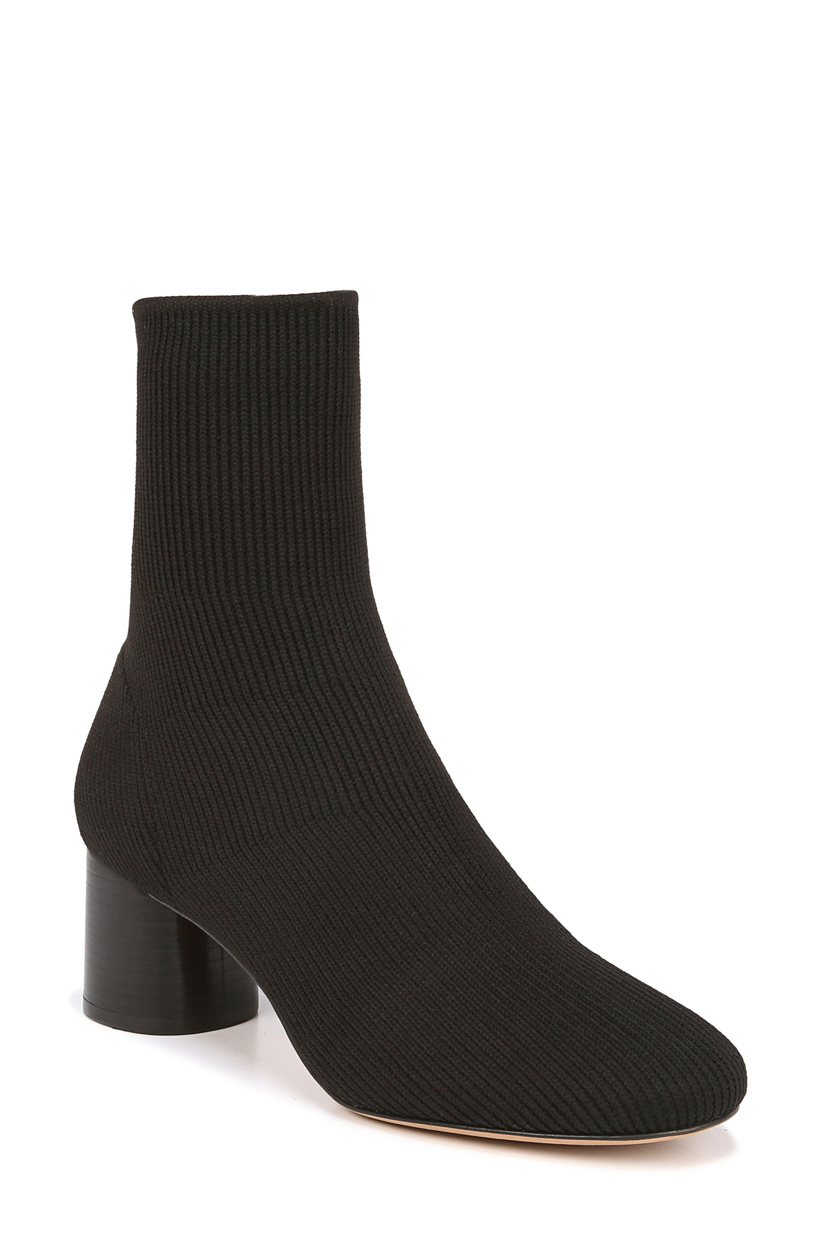 VINCE, Tasha Sock Bootie, Main thumbnail 1, color, BLACK