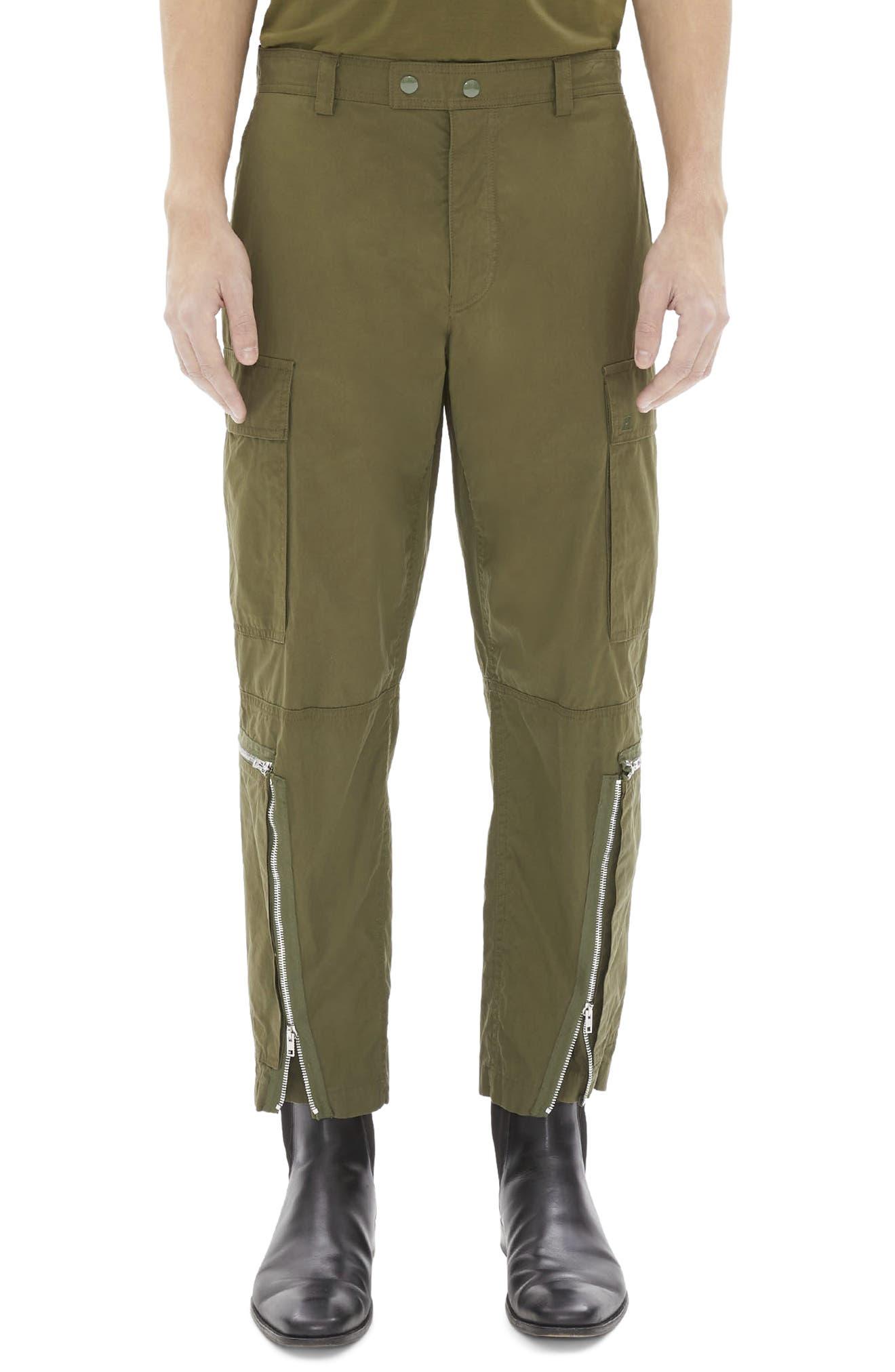 HELMUT LANG Aviator Pants, Main, color, MOSS