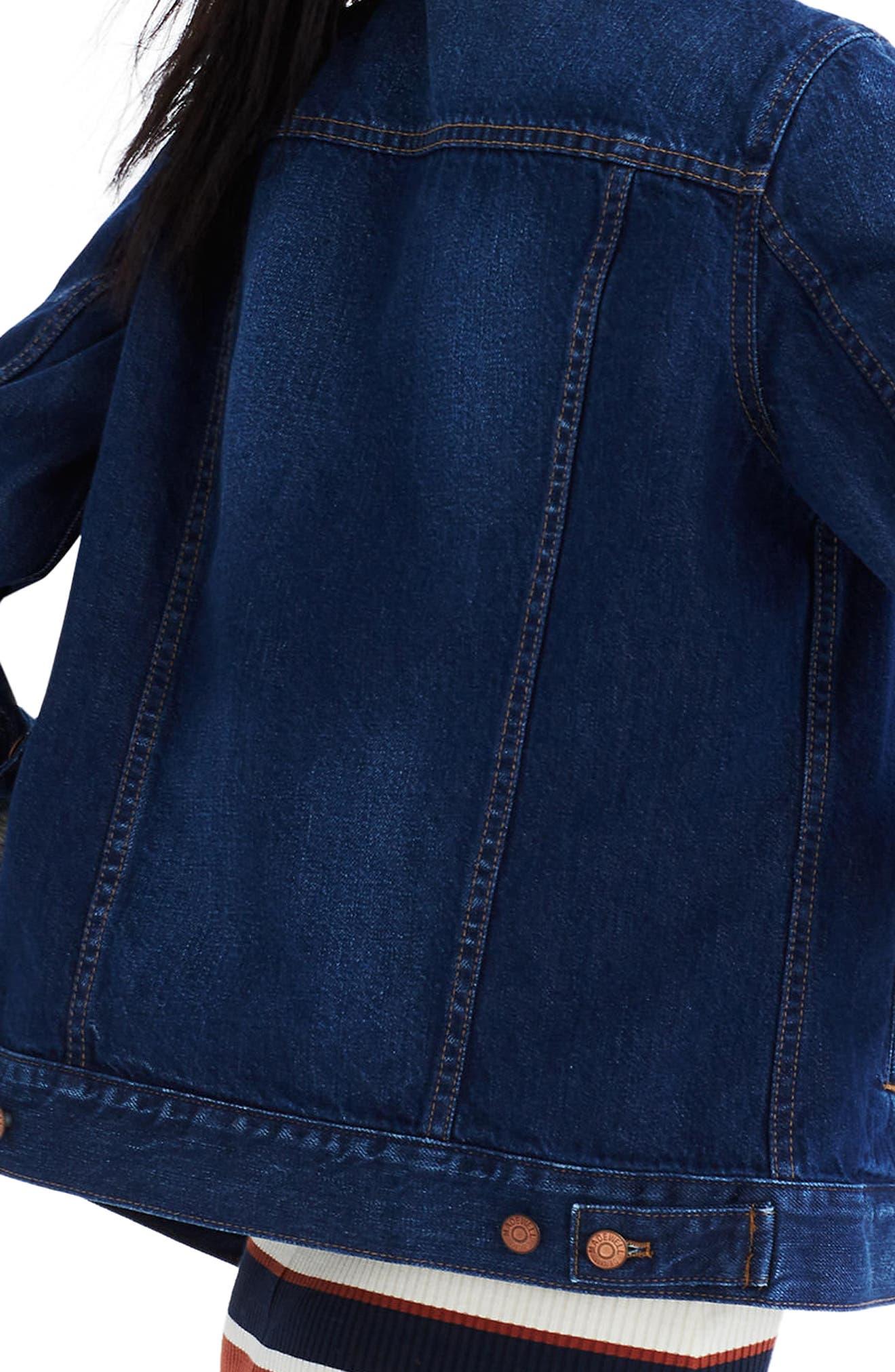 MADEWELL, Denim Jacket, Alternate thumbnail 4, color, BRIARWOOD WASH