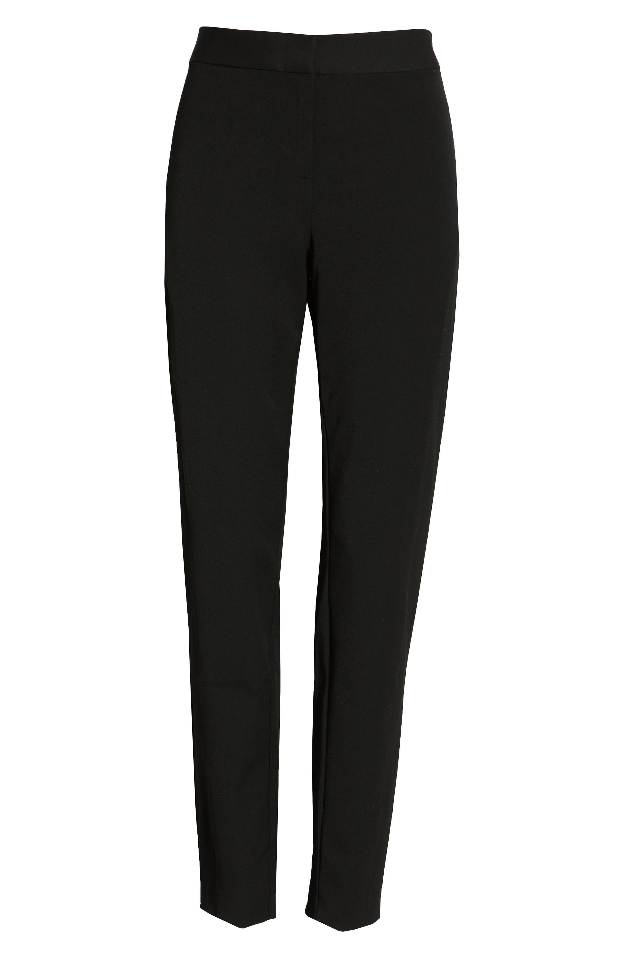 VINCE CAMUTO, Stretch Twill Skinny Pants, Alternate thumbnail 2, color, RICH BLACK