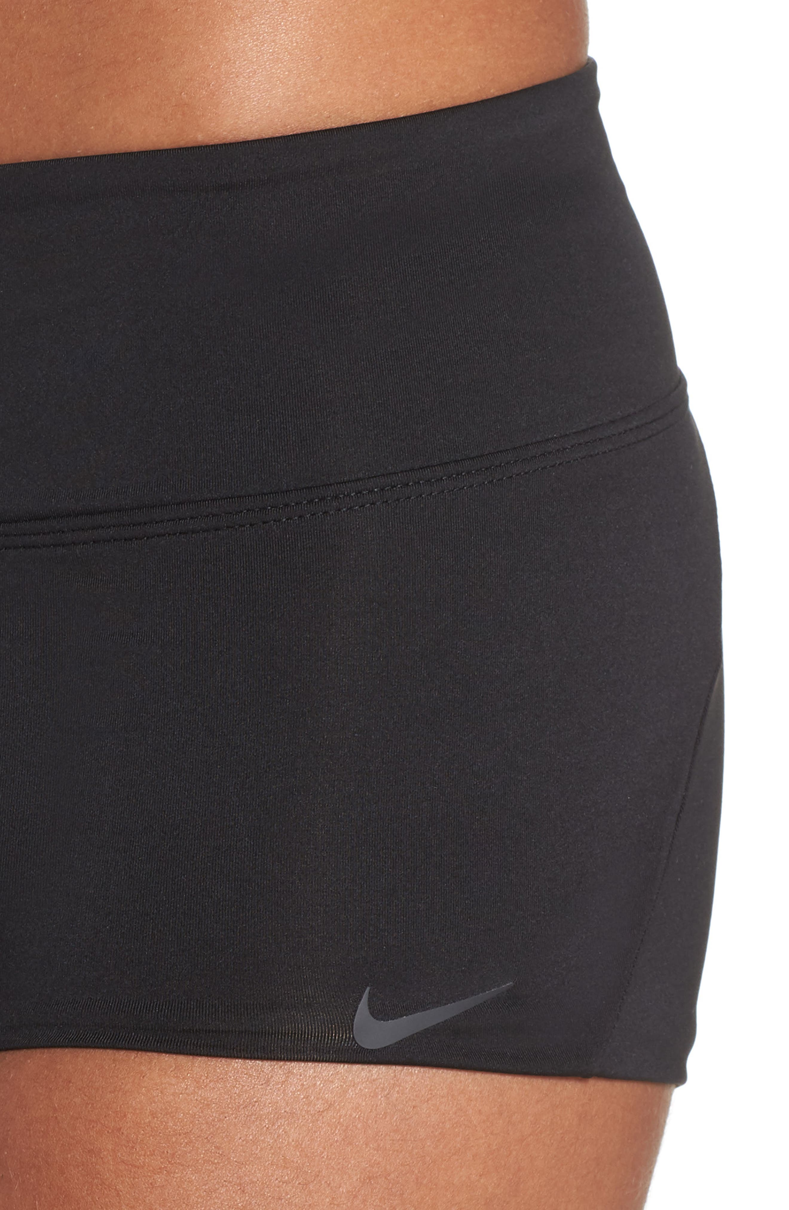 NIKE, Kick Swim Shorts, Alternate thumbnail 5, color, BLACK