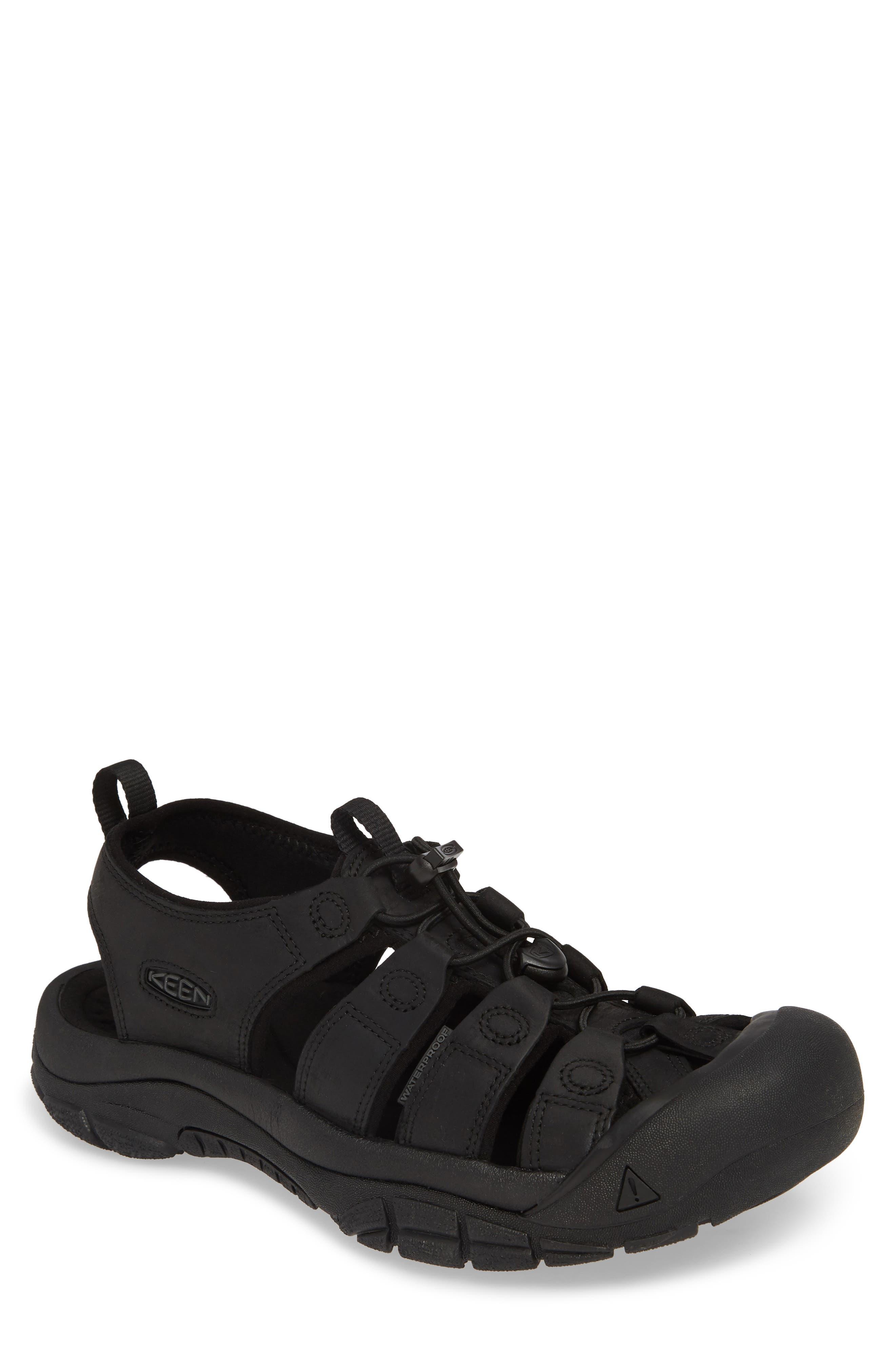 KEEN, 'Newport' Sandal, Main thumbnail 1, color, BLACK/ BLACK