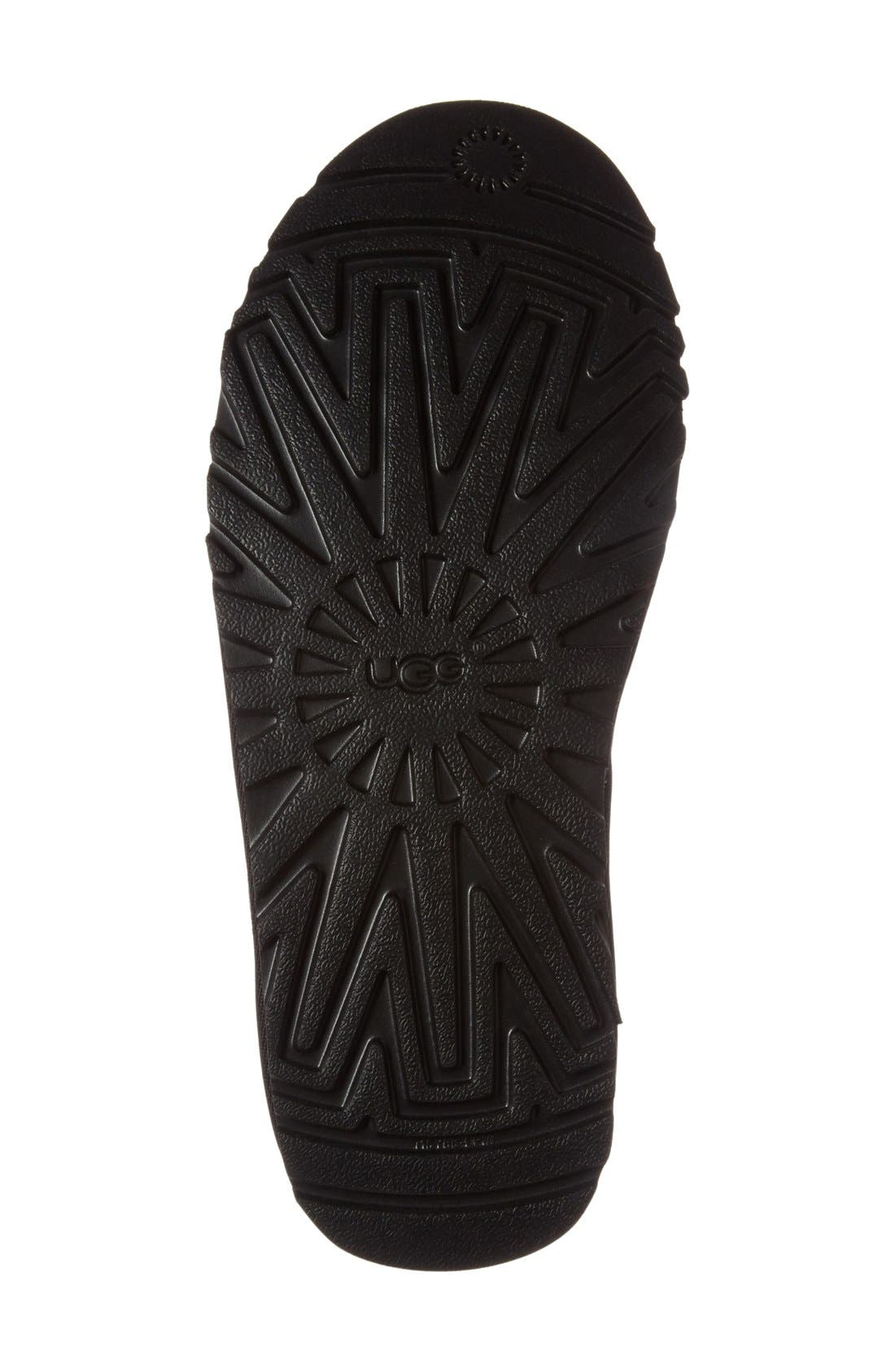UGG<SUP>®</SUP>, Harkley Lace-Up Boot, Alternate thumbnail 4, color, BLACK