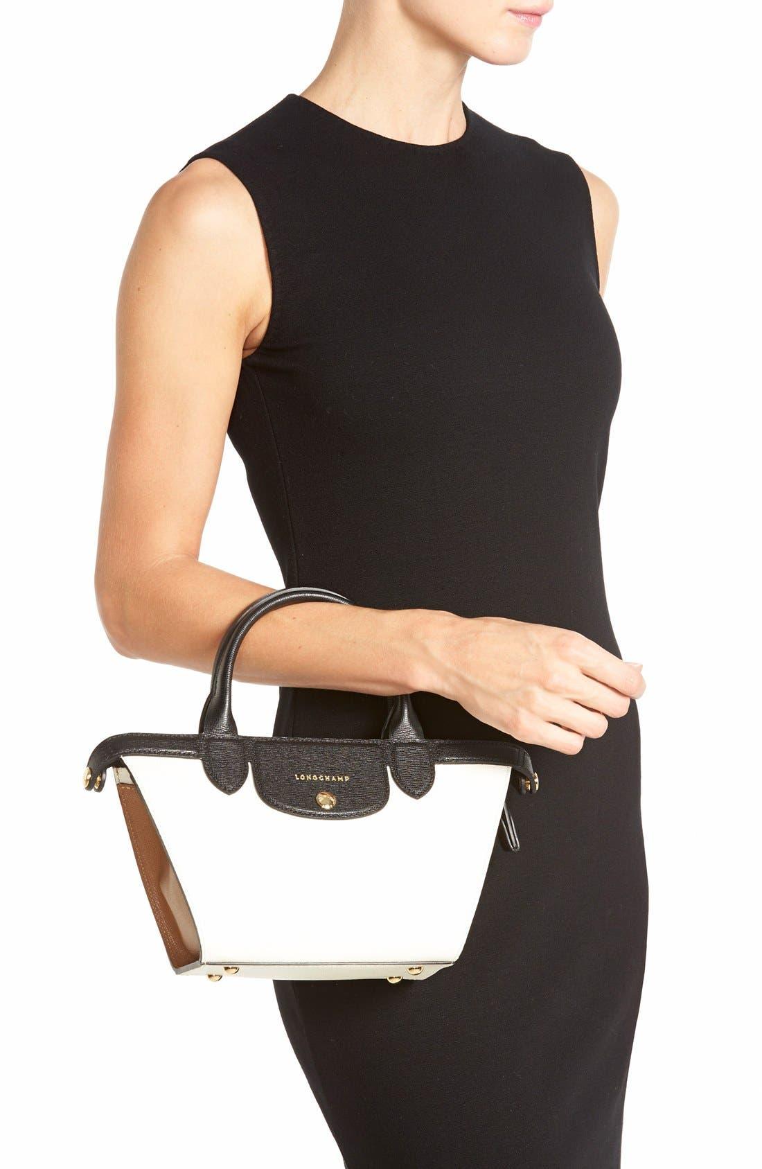 LONGCHAMP, 'Small Le Pliage - Heritage' Leather Handbag, Alternate thumbnail 2, color, 100