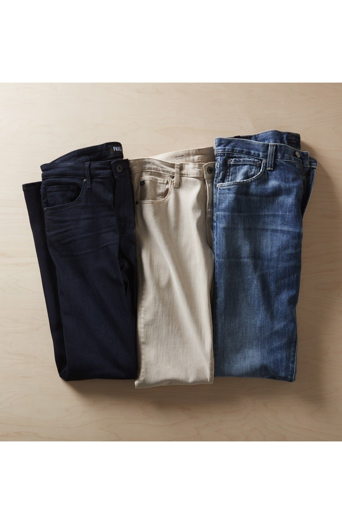 PAIGE, Transcend - Federal Slim Straight Leg Jeans, Alternate thumbnail 12, color, INKWELL