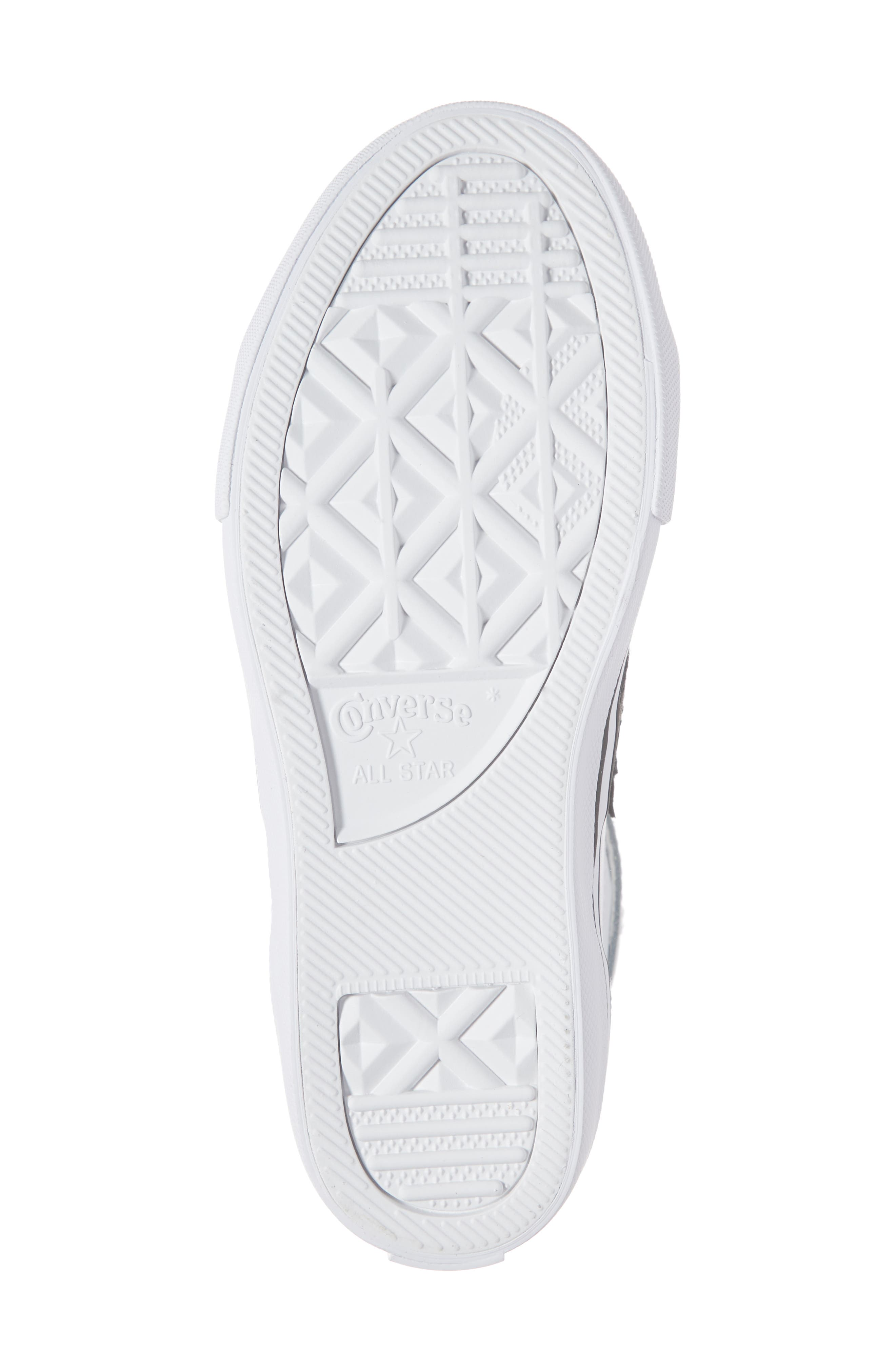 CONVERSE, Pro Blaze High Top Sneaker, Alternate thumbnail 6, color, WHITE/ BLACK/ WHITE