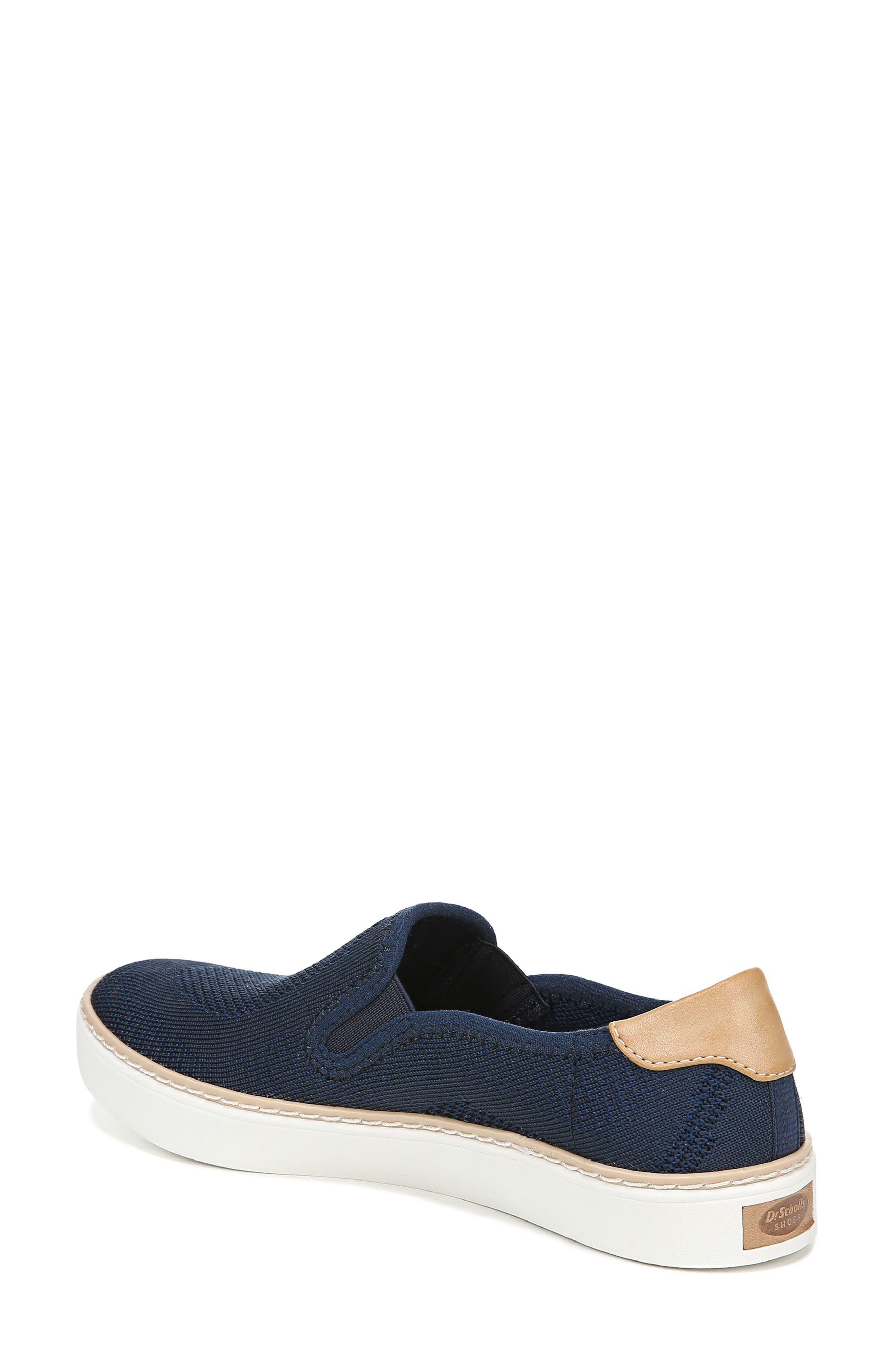 DR. SCHOLL'S, Madi Slip-On Sneaker, Alternate thumbnail 2, color, NAVY KNIT FABRIC