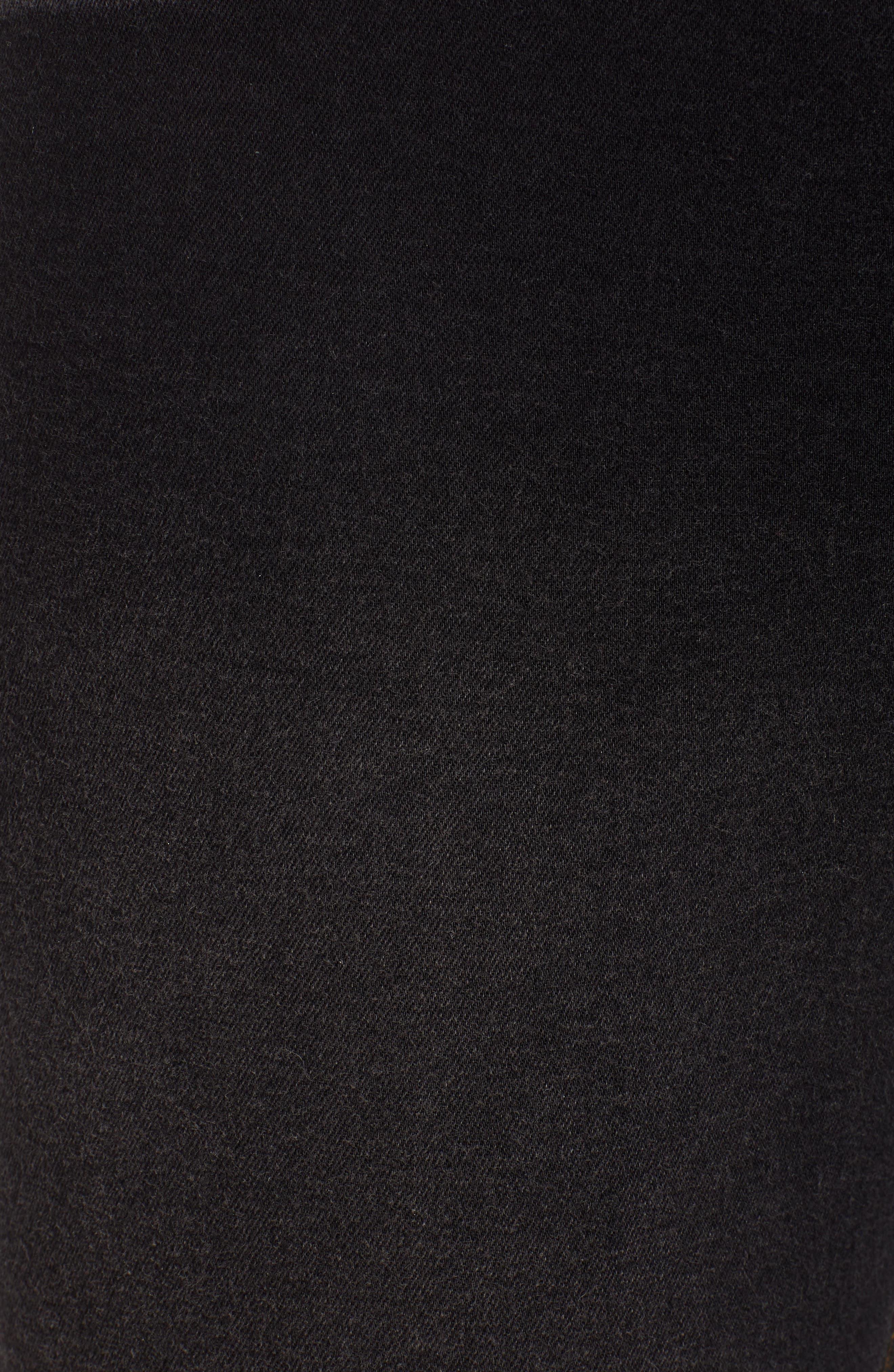 HUE, Ultrasoft Denim Skimmer Leggings, Alternate thumbnail 6, color, BLACK WASH