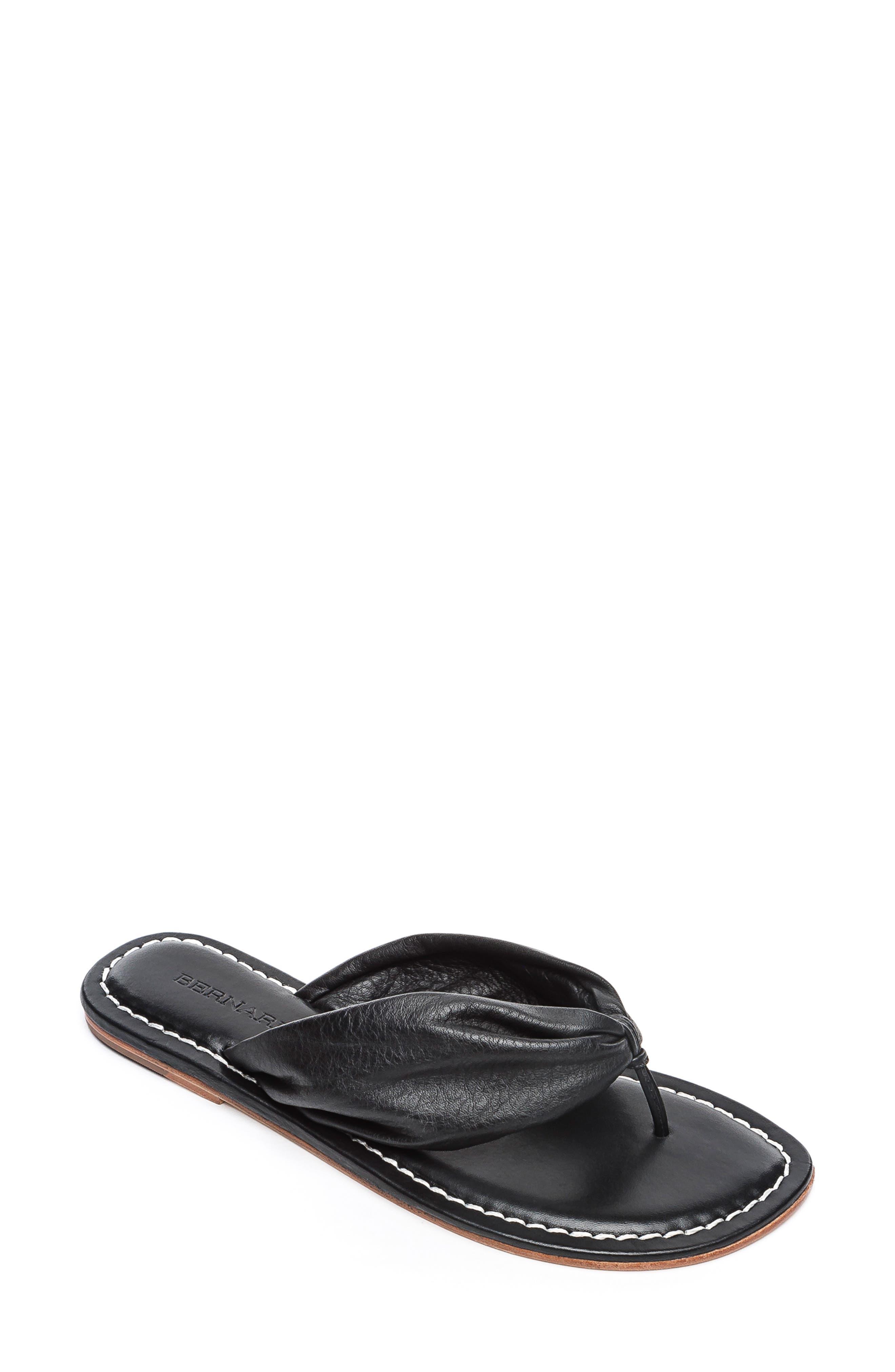 BERNARDO Mila Flip Flop, Main, color, BLACK