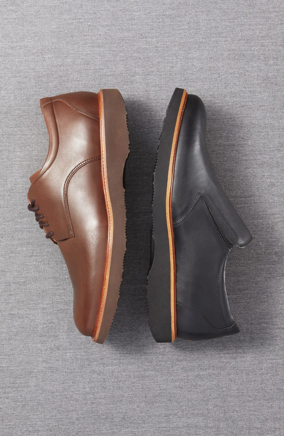 SAMUEL HUBBARD, 'Founder' Plain Toe Derby, Alternate thumbnail 5, color, CHESTNUT LEATHER