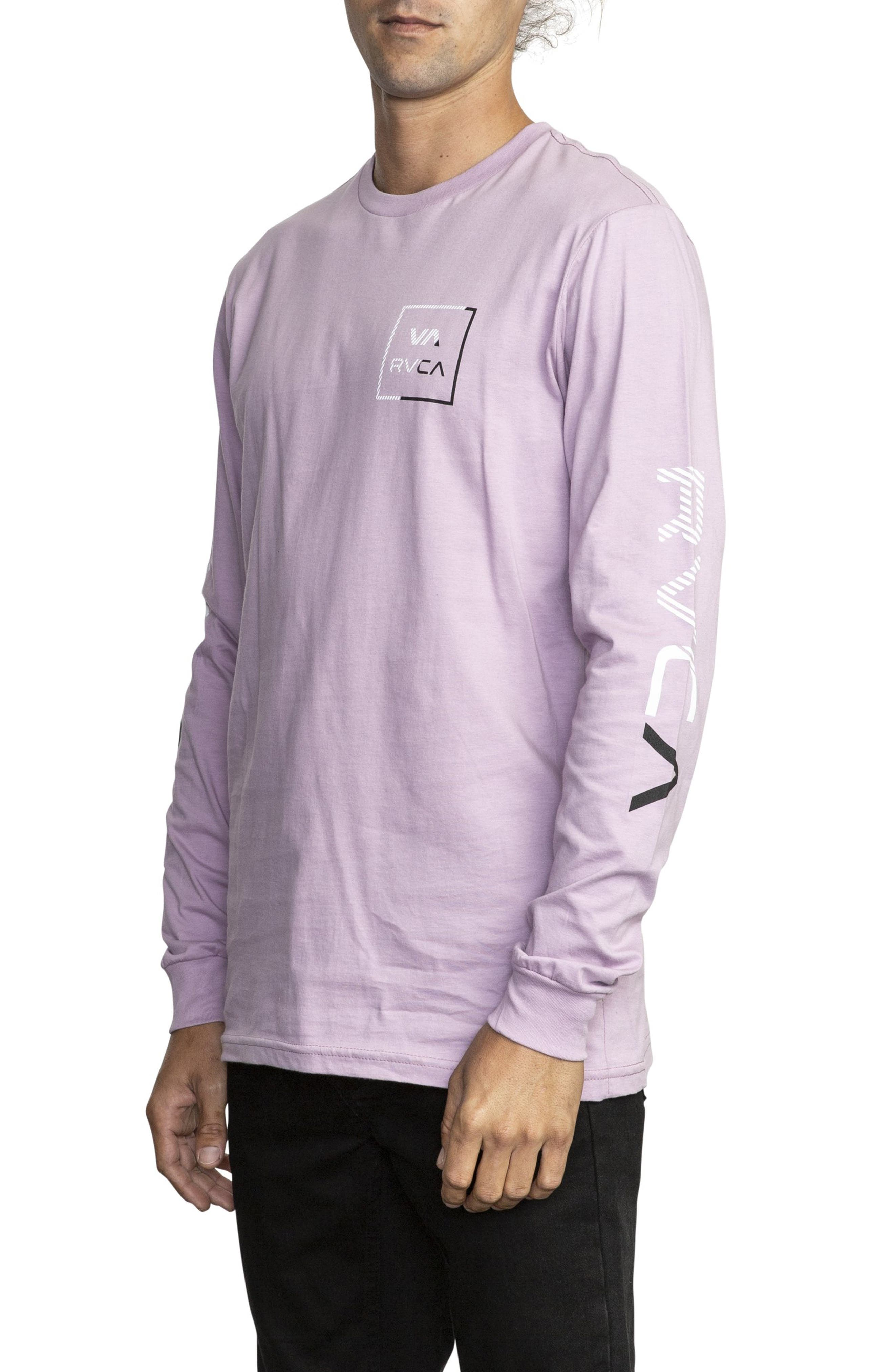 RVCA, Segment Long Sleeve T-Shirt, Alternate thumbnail 3, color, 531
