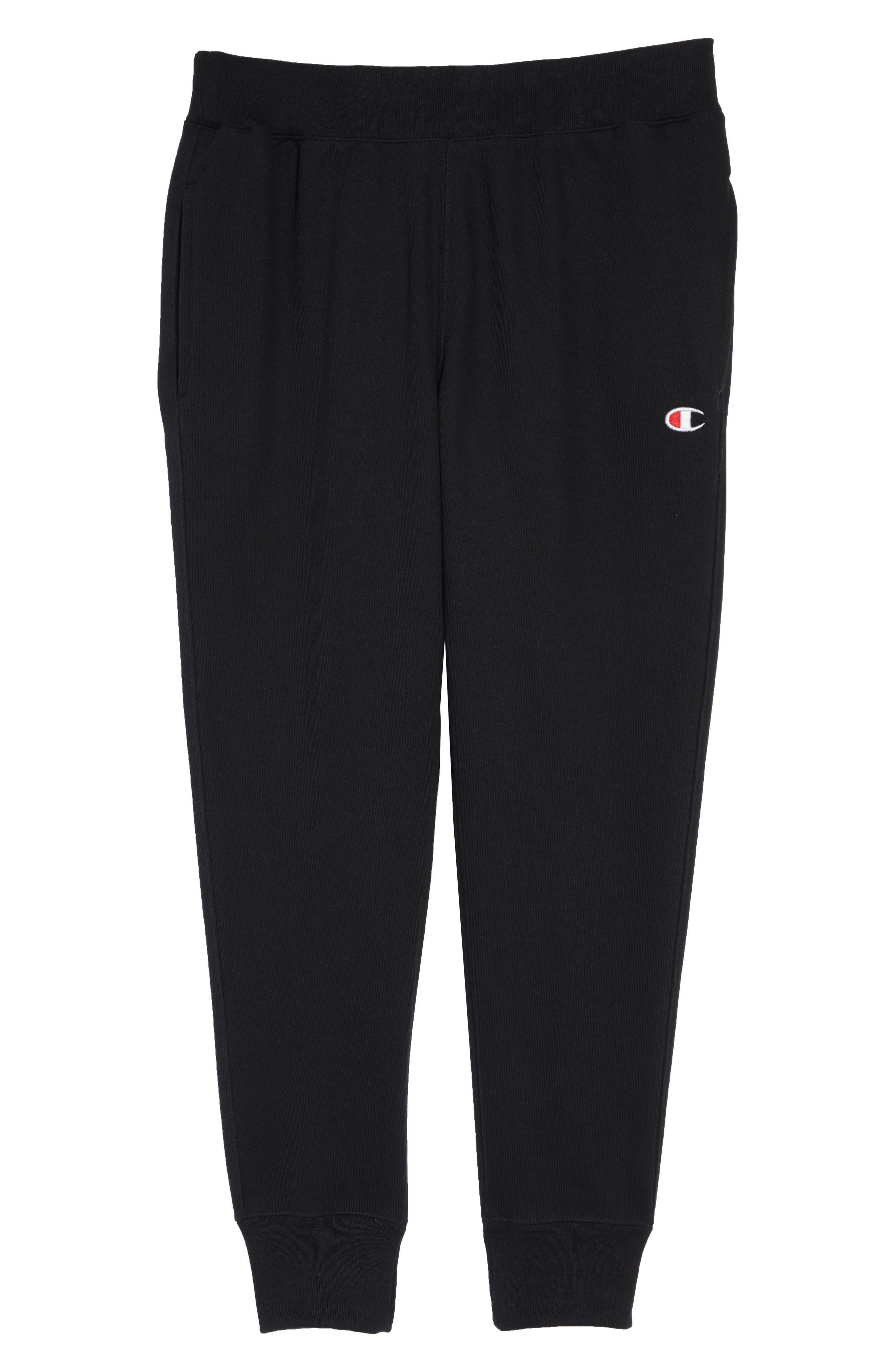 CHAMPION, Reverse Weave<sup>®</sup> Jogger Pants, Alternate thumbnail 5, color, BLACK