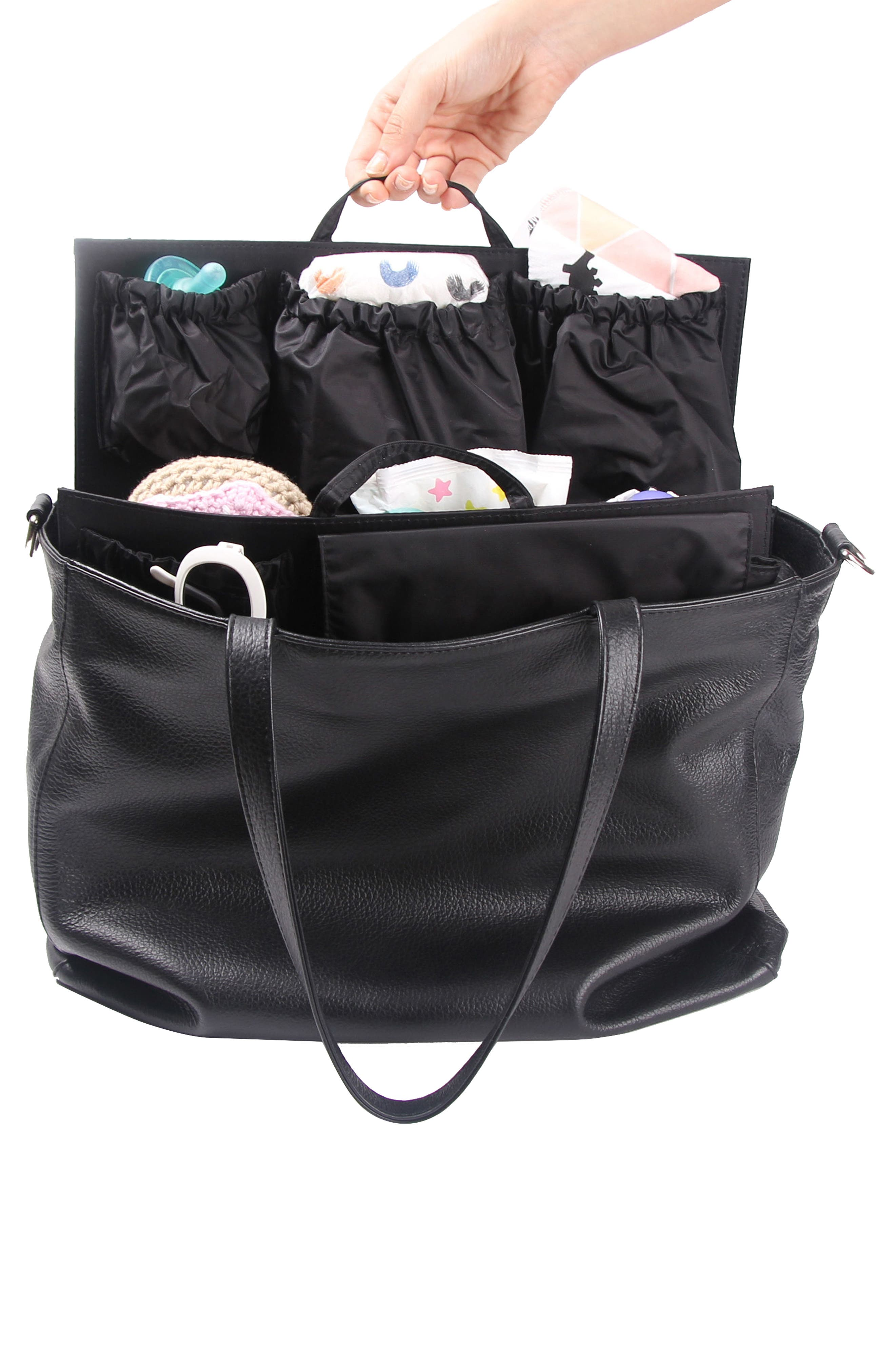 TOTESAVVY, Organization Handbag Insert, Alternate thumbnail 8, color, CLASSIC BLACK